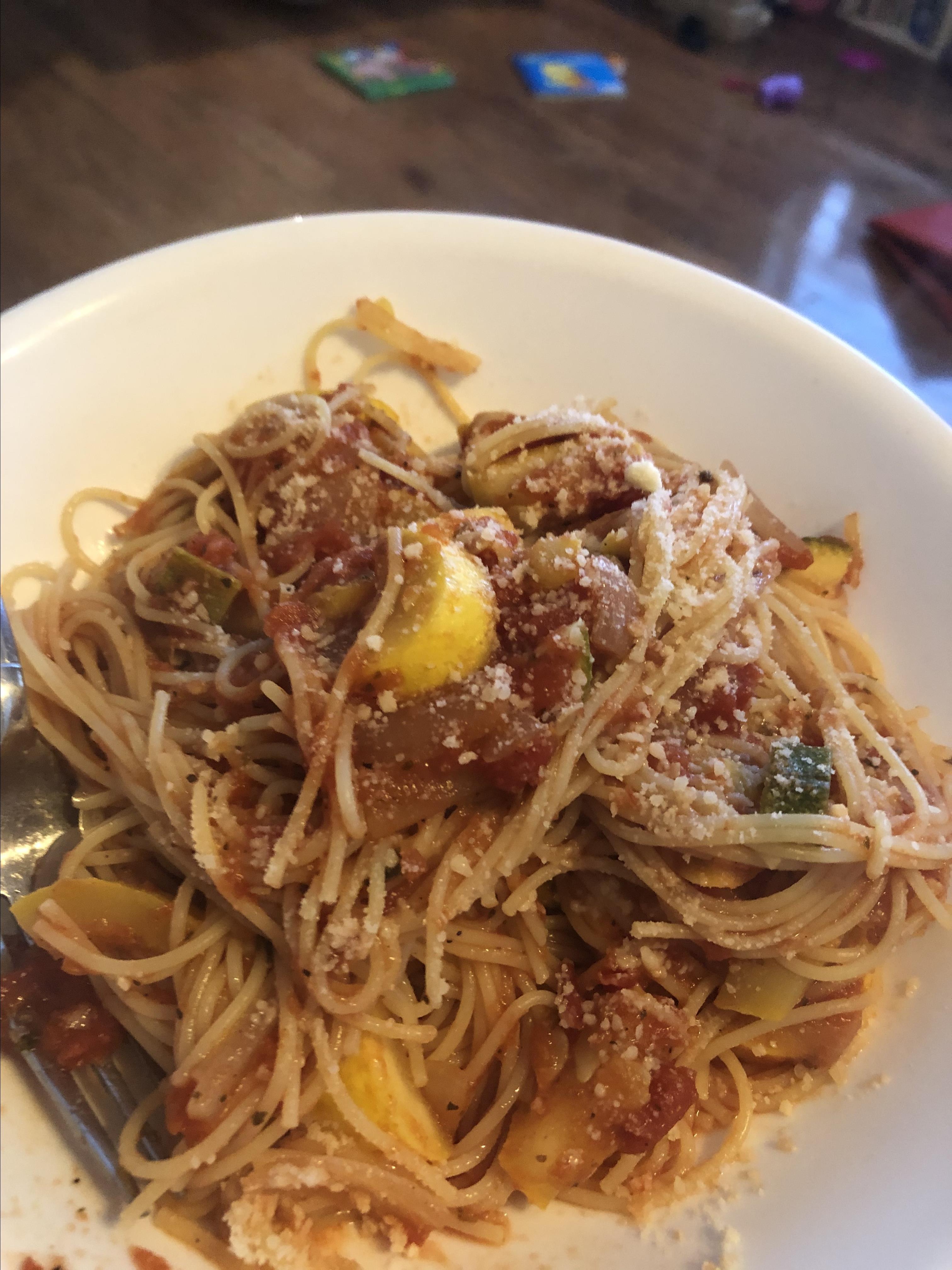 Zucchini Summer Pasta