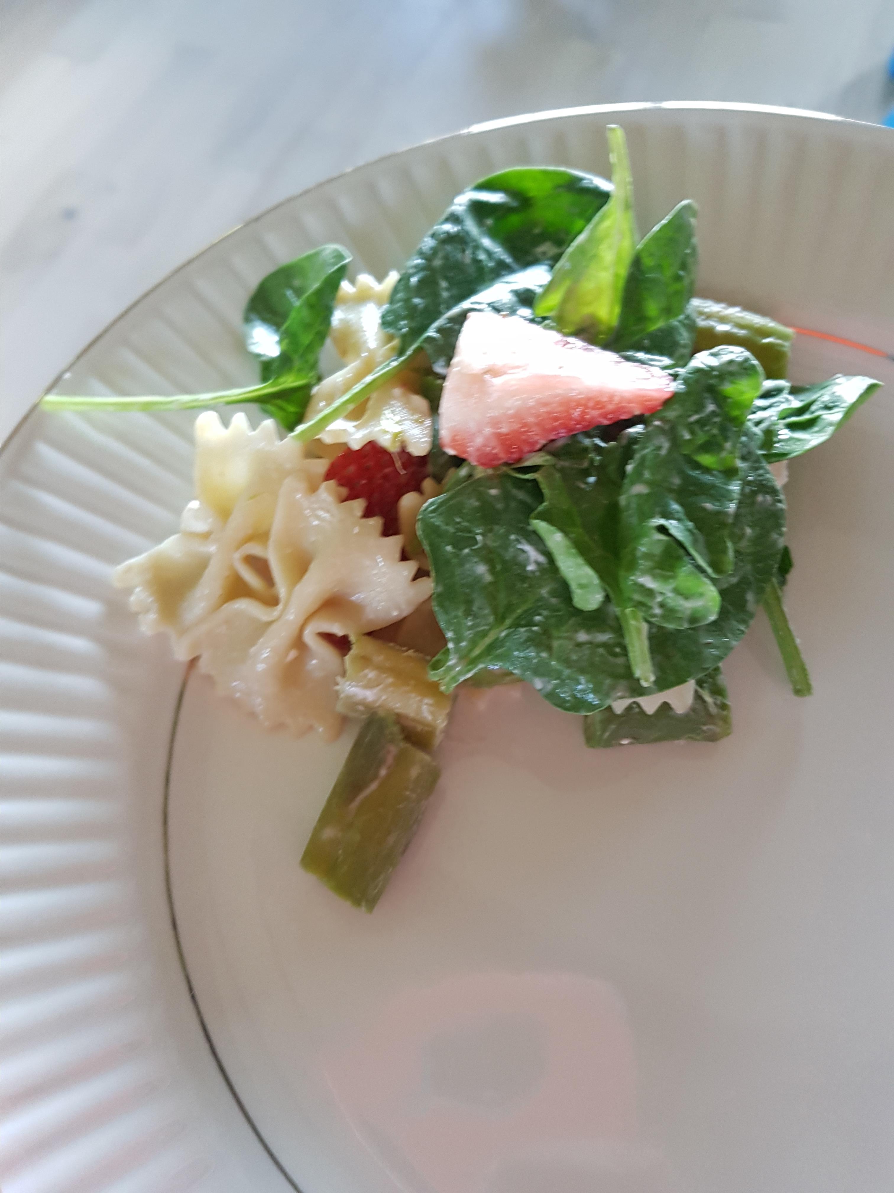 Strawberry-Asparagus Pasta Salad