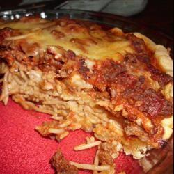 Three Cheese Spaghetti Pie sassy101