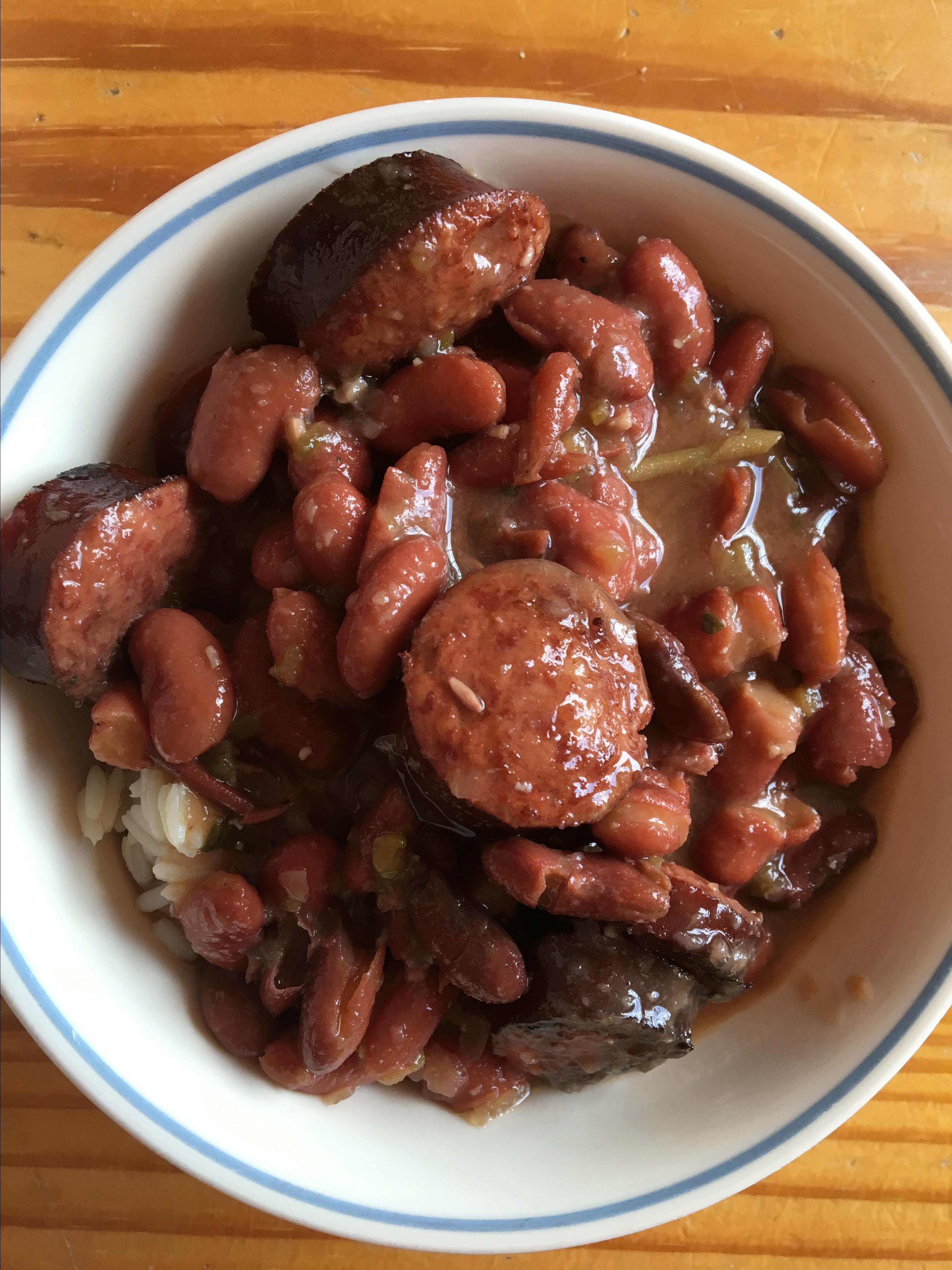 Authentic, No Shortcuts, Louisiana Red Beans and Rice Melissa S.