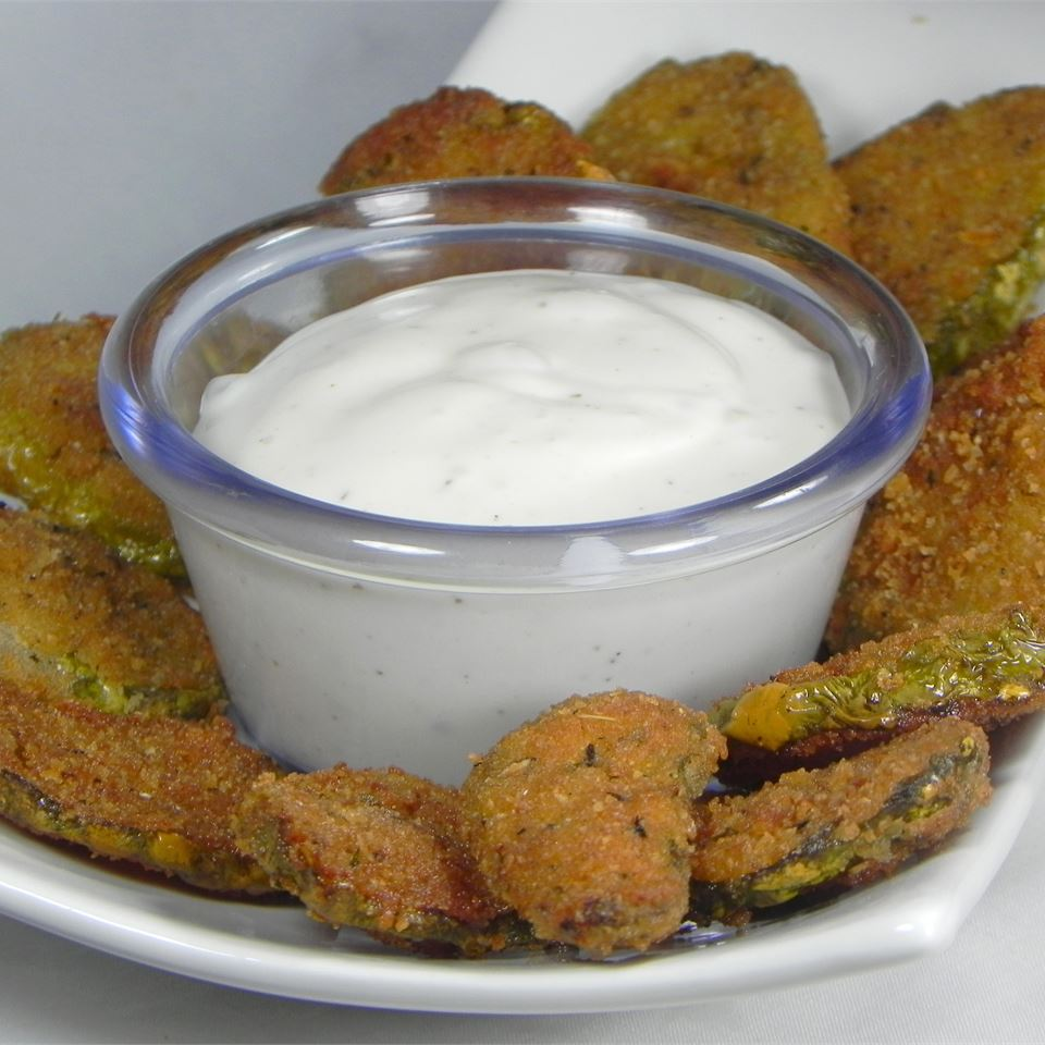 Super Easy and Spicy Fried Pickles
