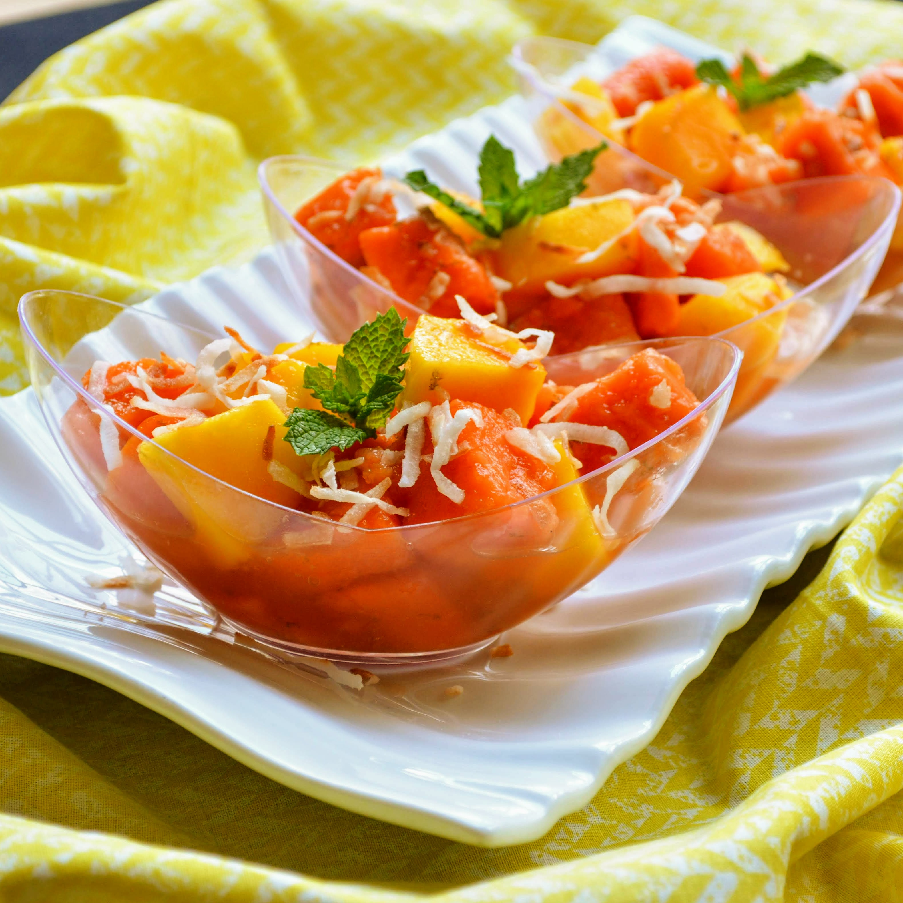 Mango Papaya Fruit Salad