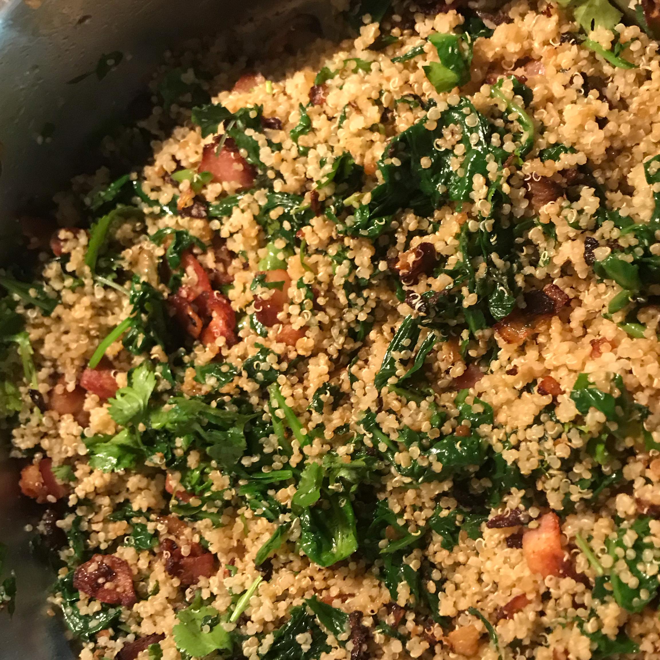 Bacon Spinach Quinoa