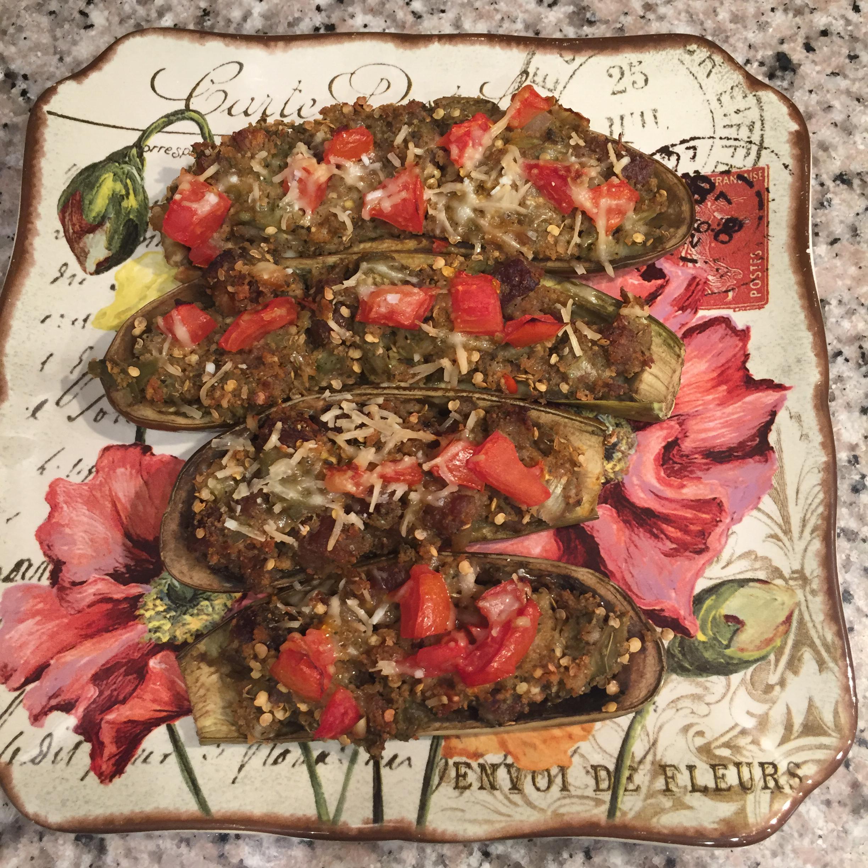 Mama Chiarello's Stuffed Eggplant Catherine OBrien