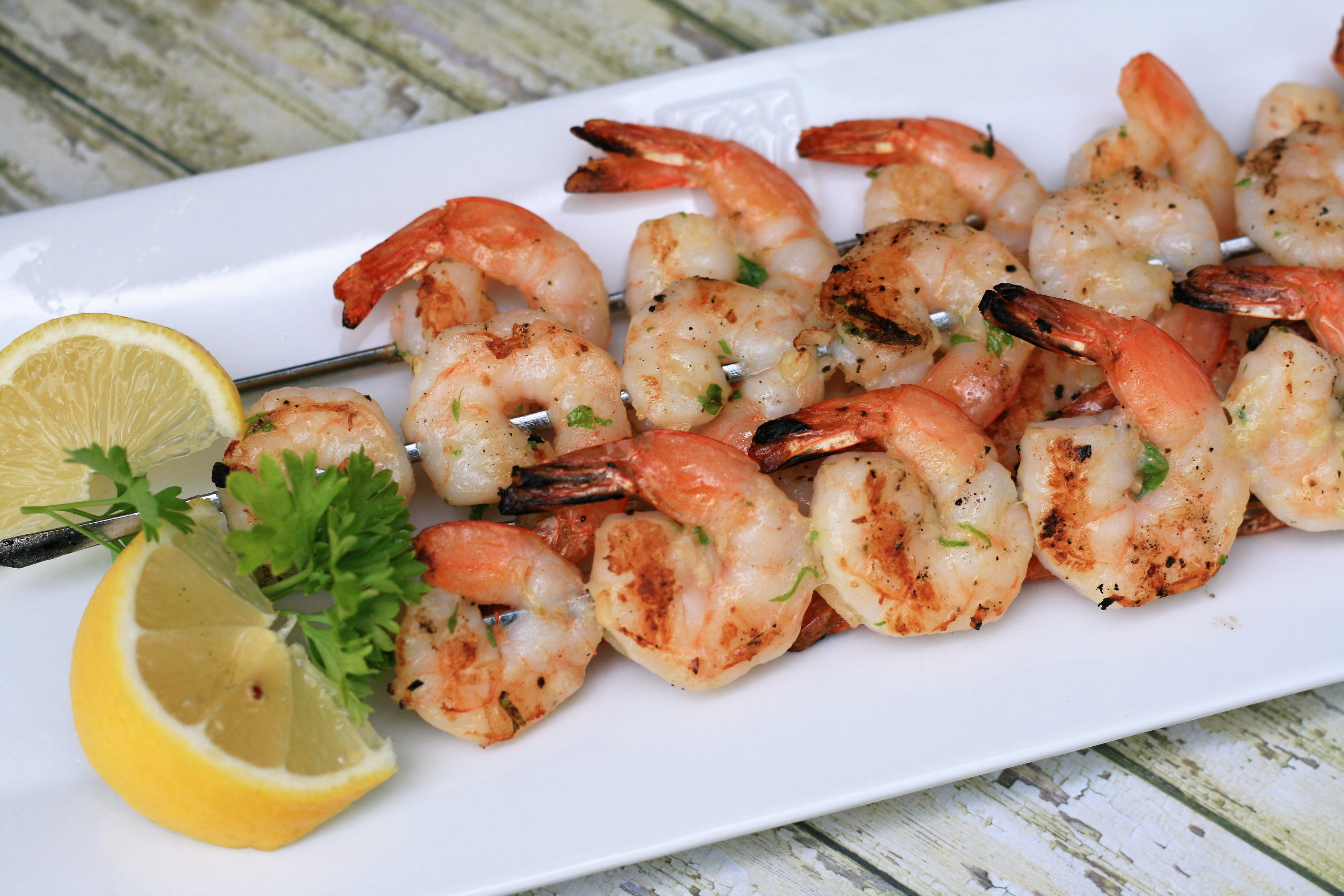 Garlic Shrimp Kabobs