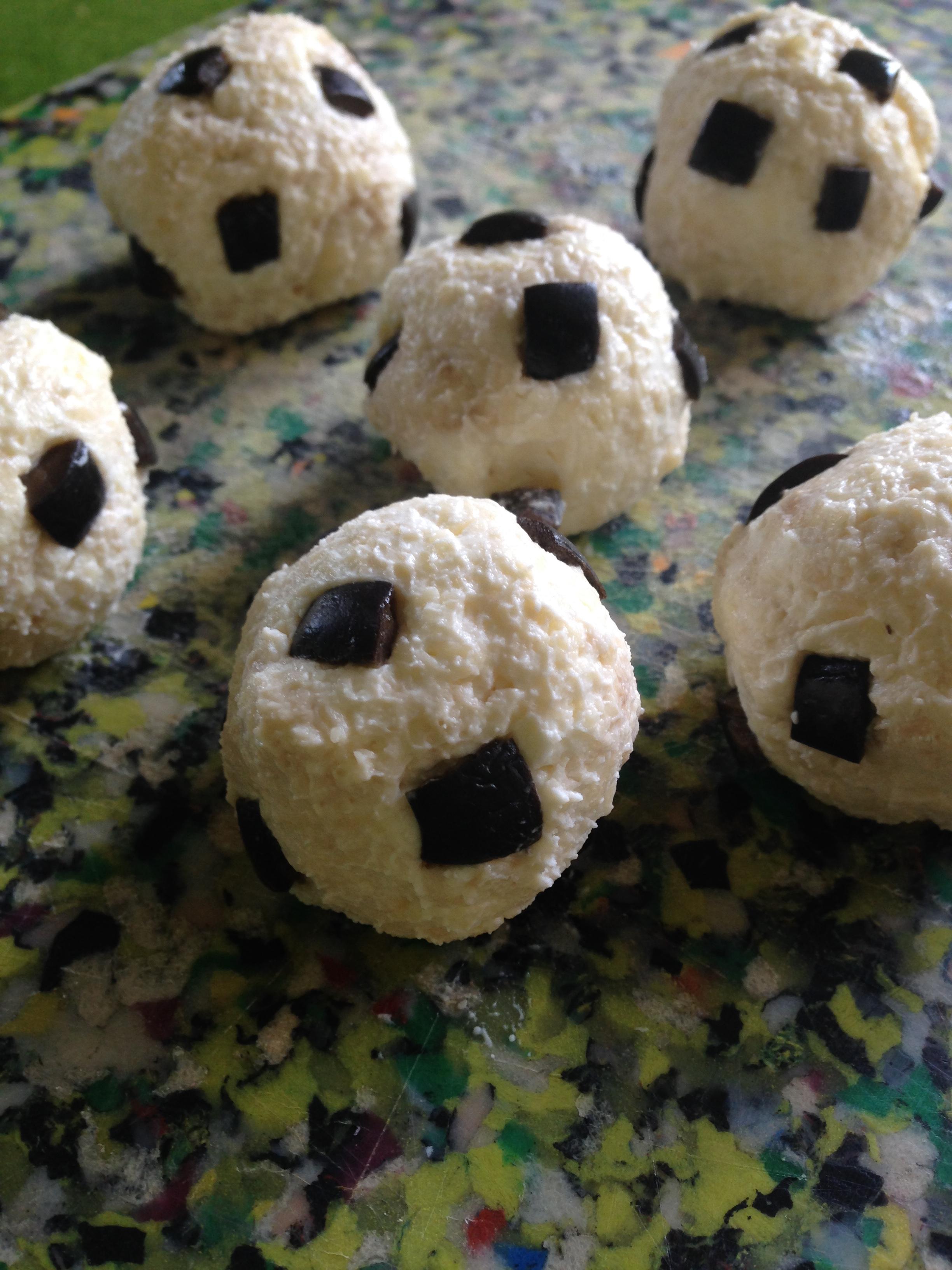 Soccer Cheese Ball Bites barbara