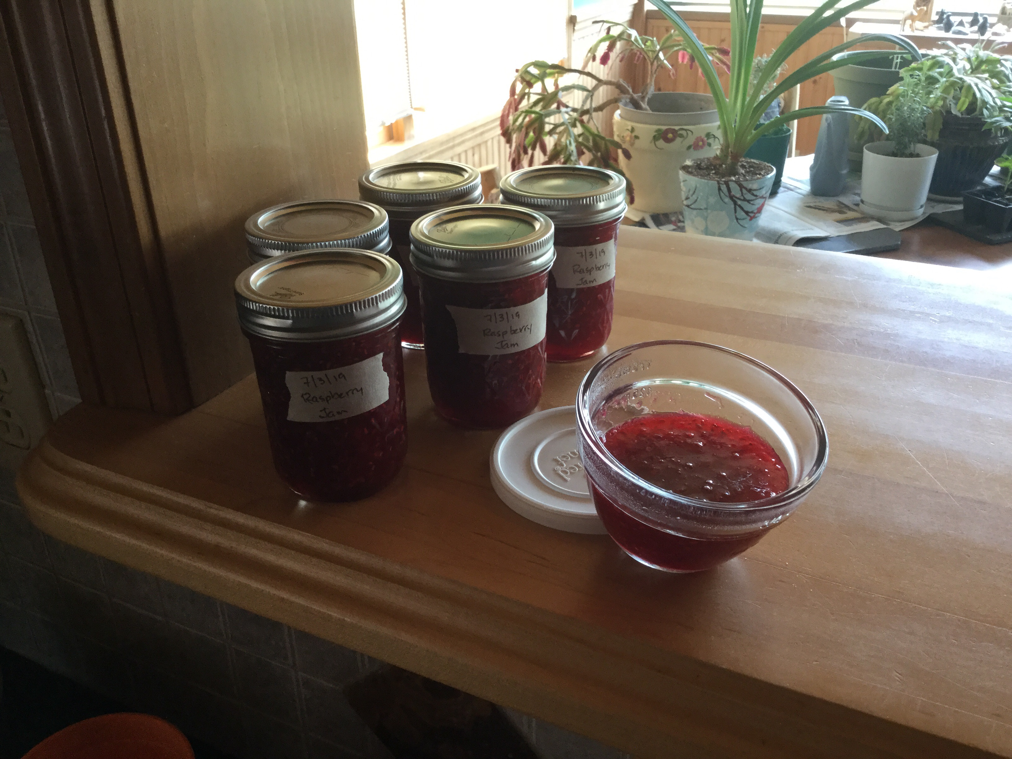 Raspberry Jam without Pectin ADK Raine