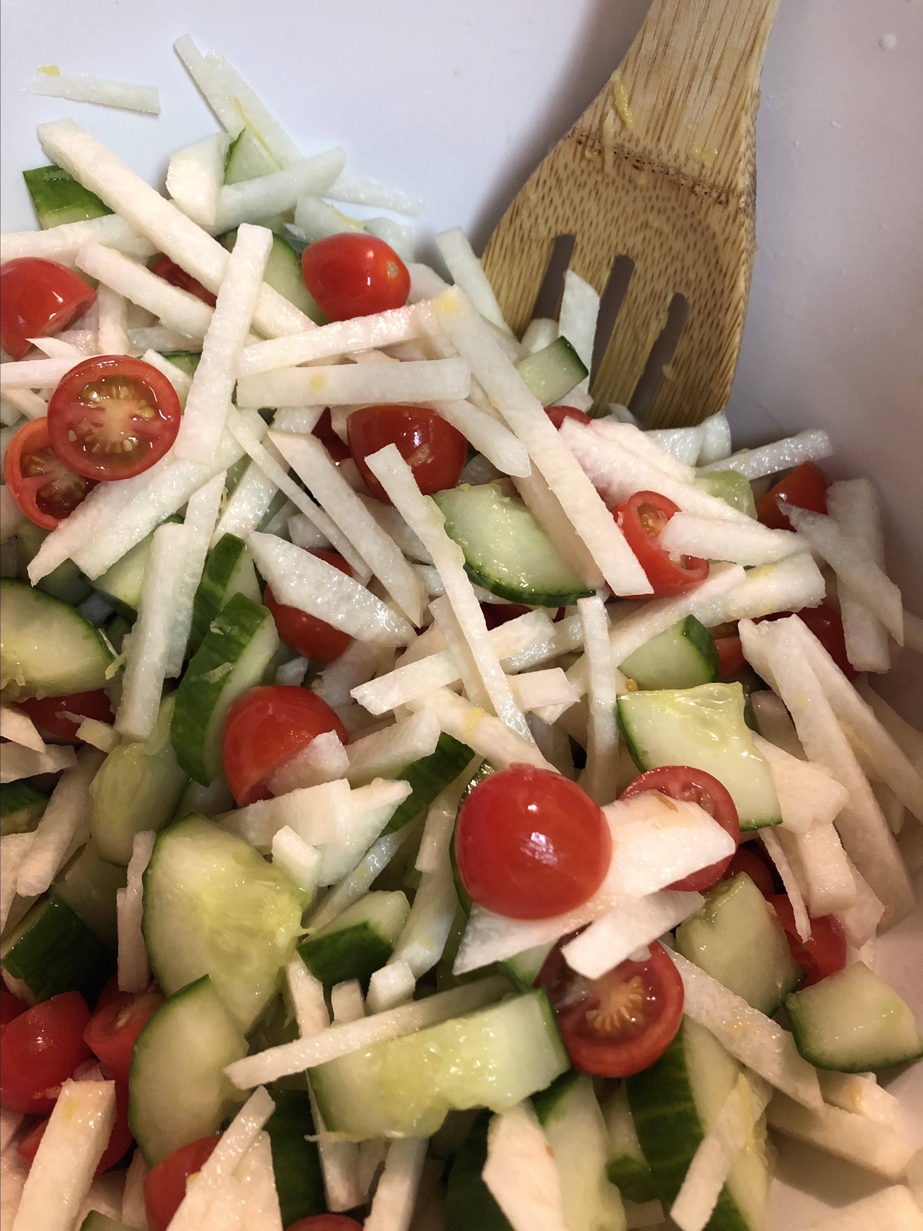 Summer Cucumber Jicama Salad Stephanie Redelsperger
