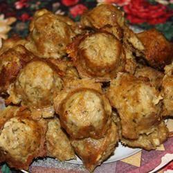 Tantalizing Turkey and Blue Cheese Meatballs Alan Harvey