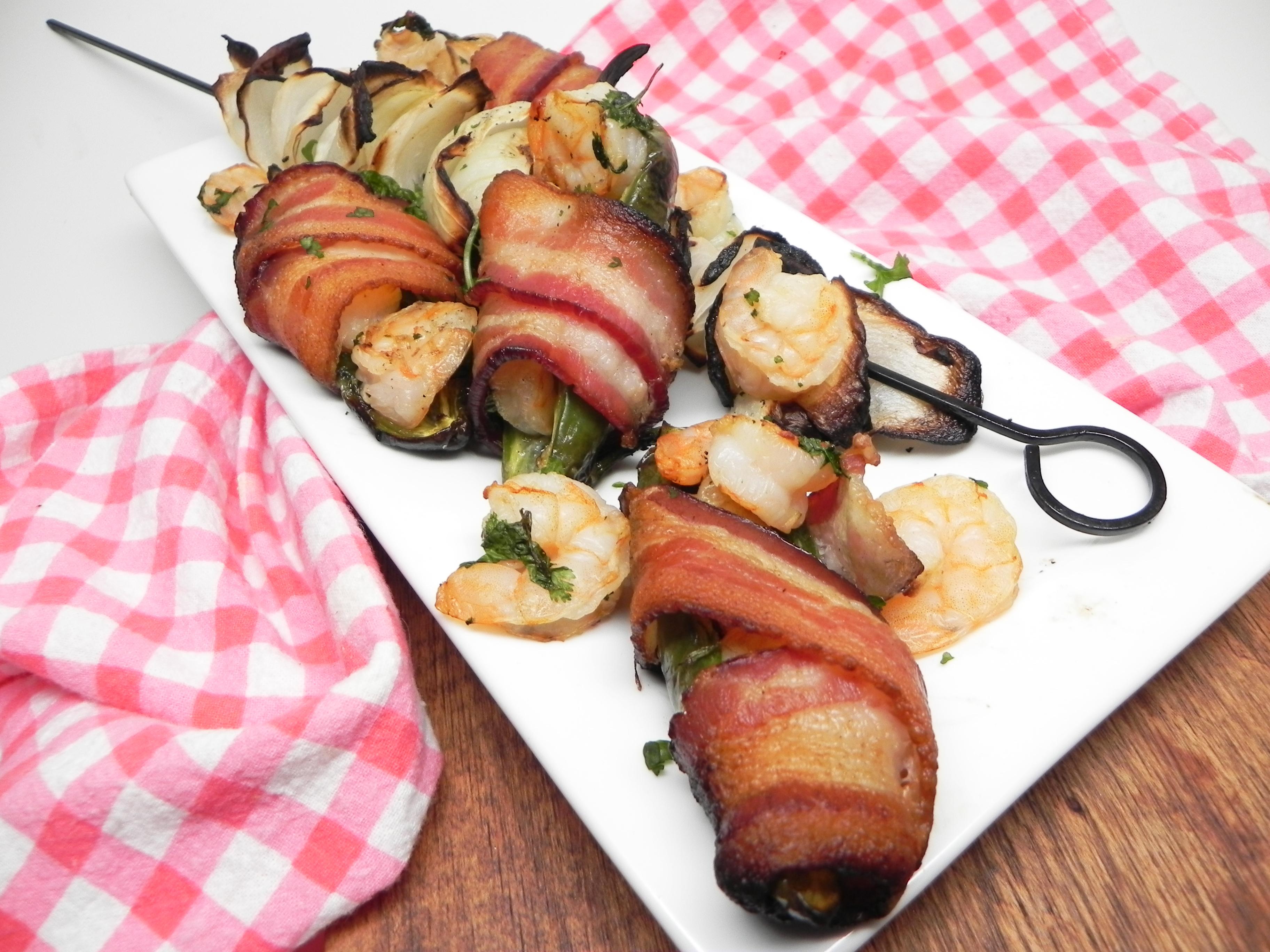 Grilled Shrimp Jalapeno Kabobs