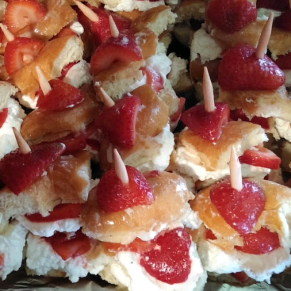 Glazed Doughnut Strawberry Shortcake