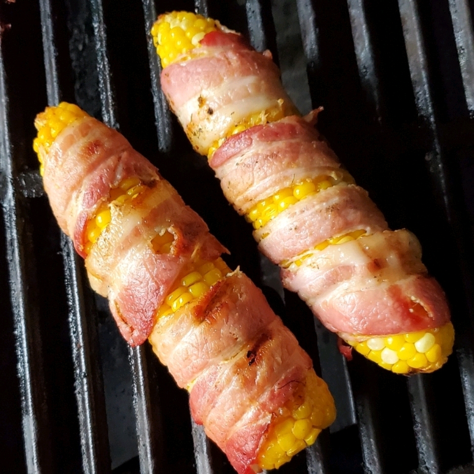Grilled Bacon-Wrapped Corn on the Cob Greg Jones