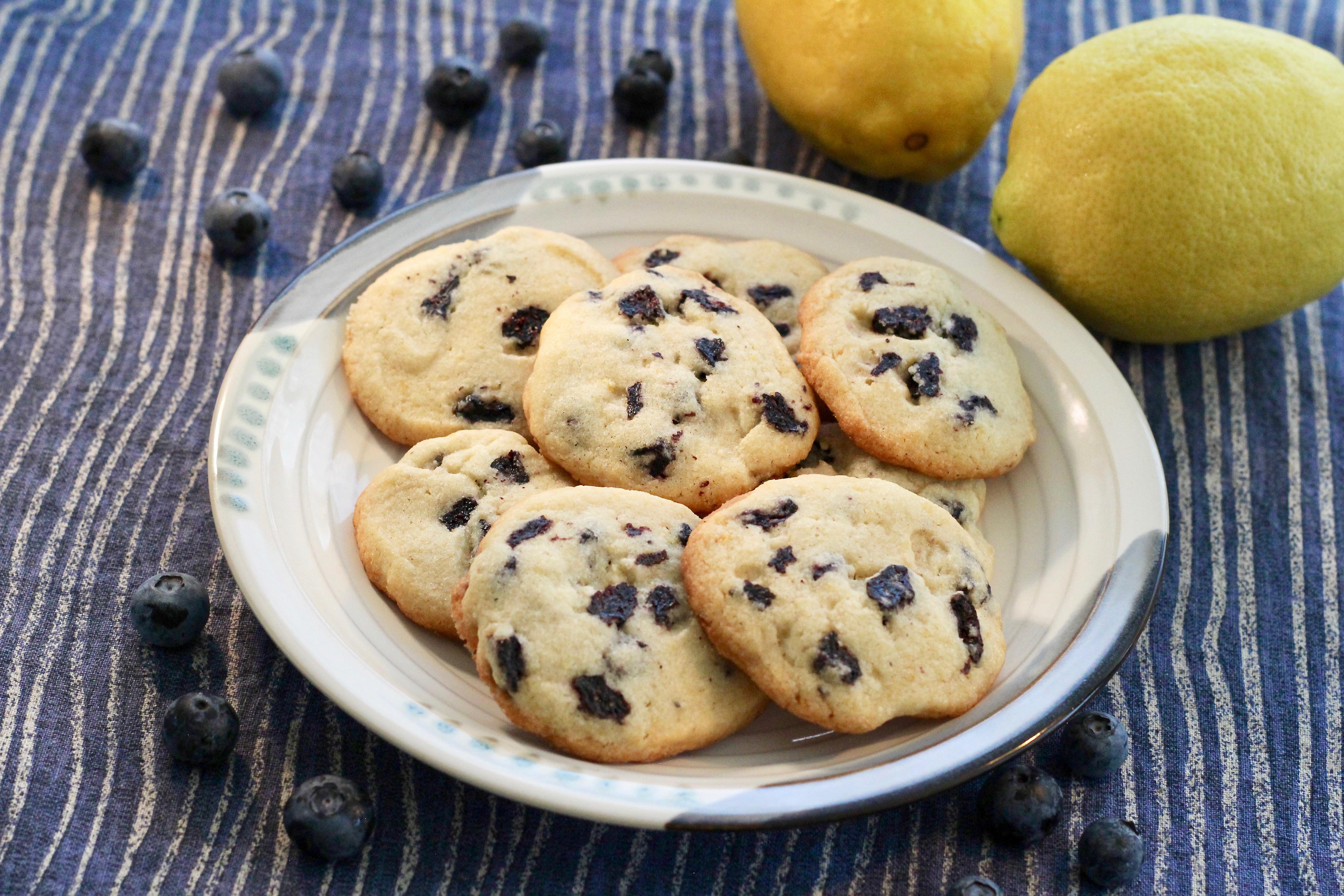 Blueberry-Lemon Butter Cookies