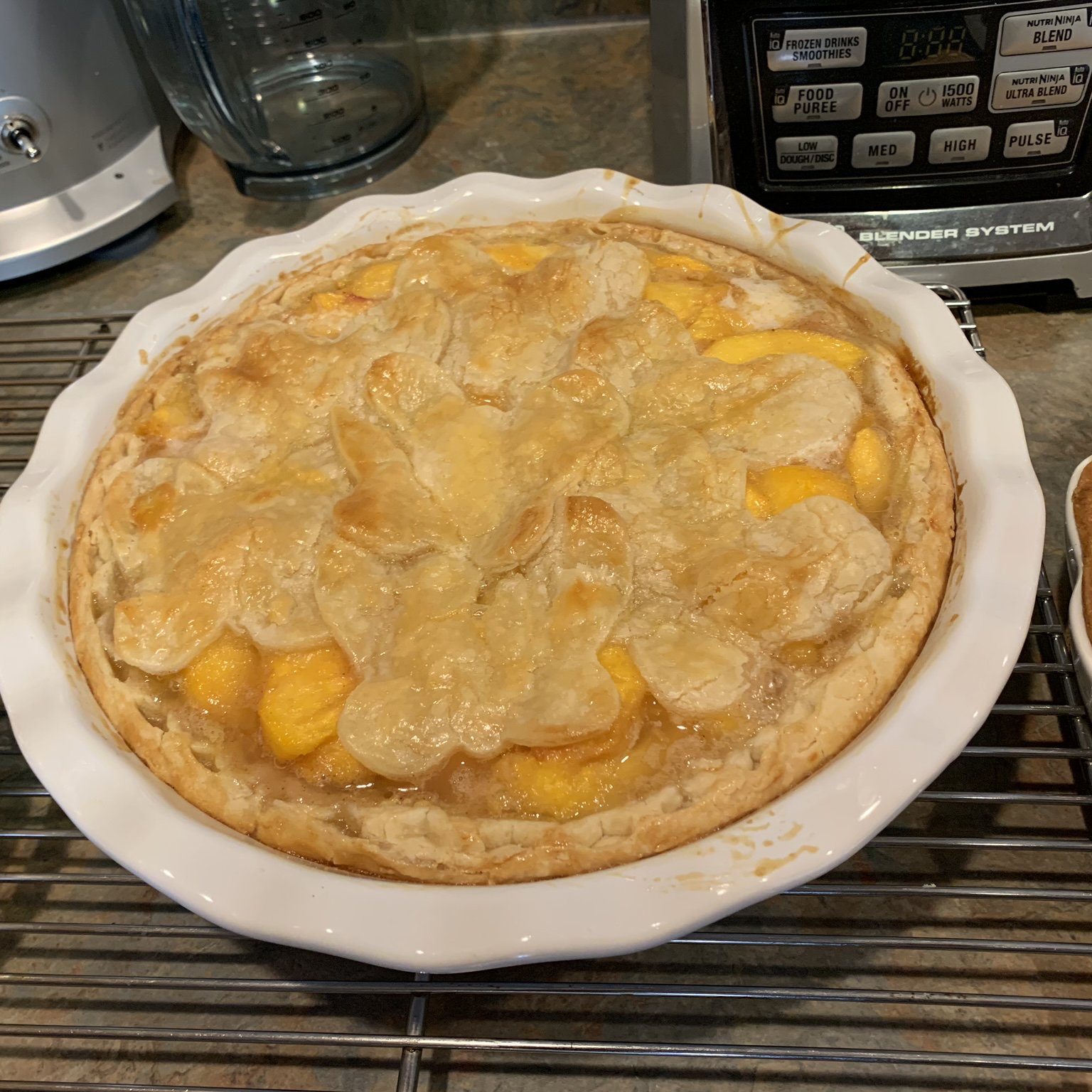Peach Pie the Old Fashioned Two Crust Way MsBertaBoo
