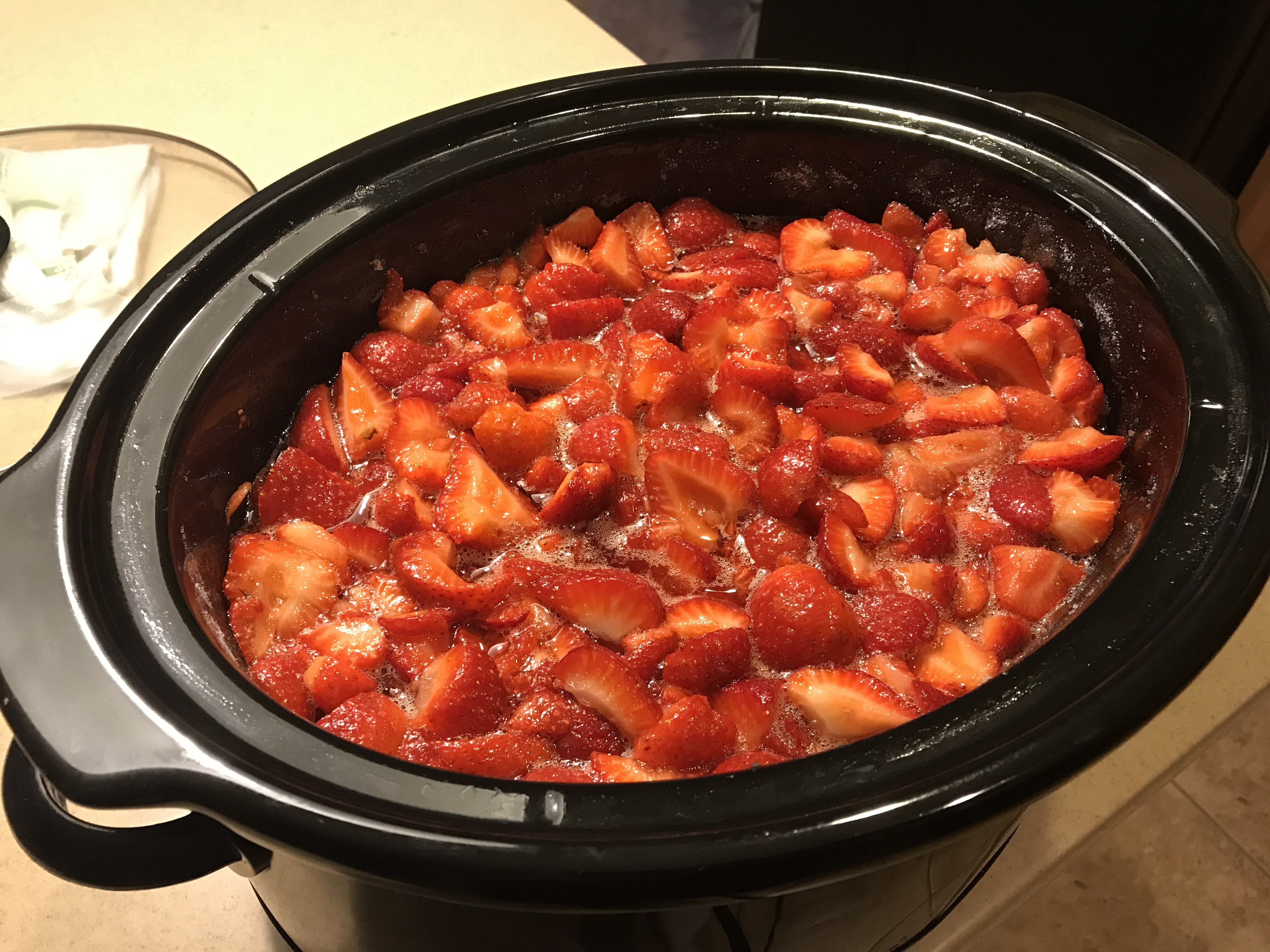 Strawberry Jam in a Slow Cooker