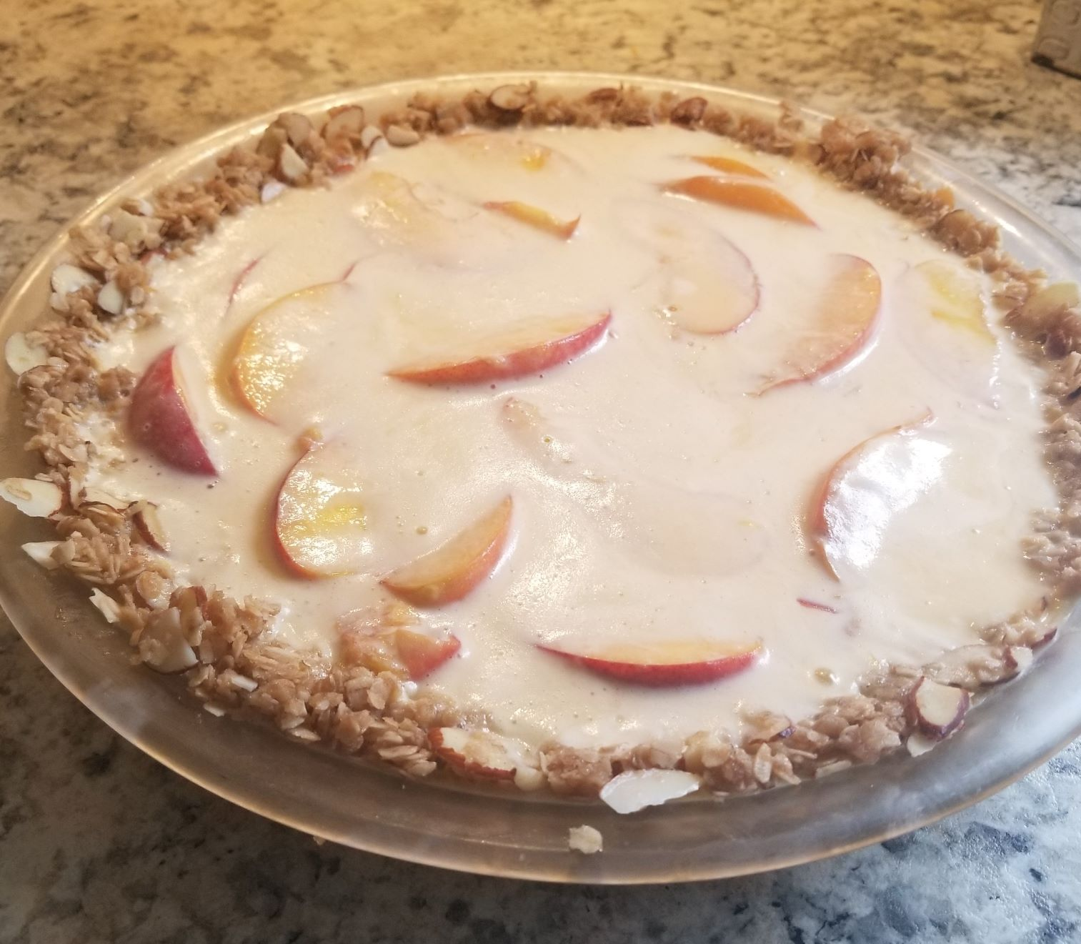 Nana's Peach Parfait Pie