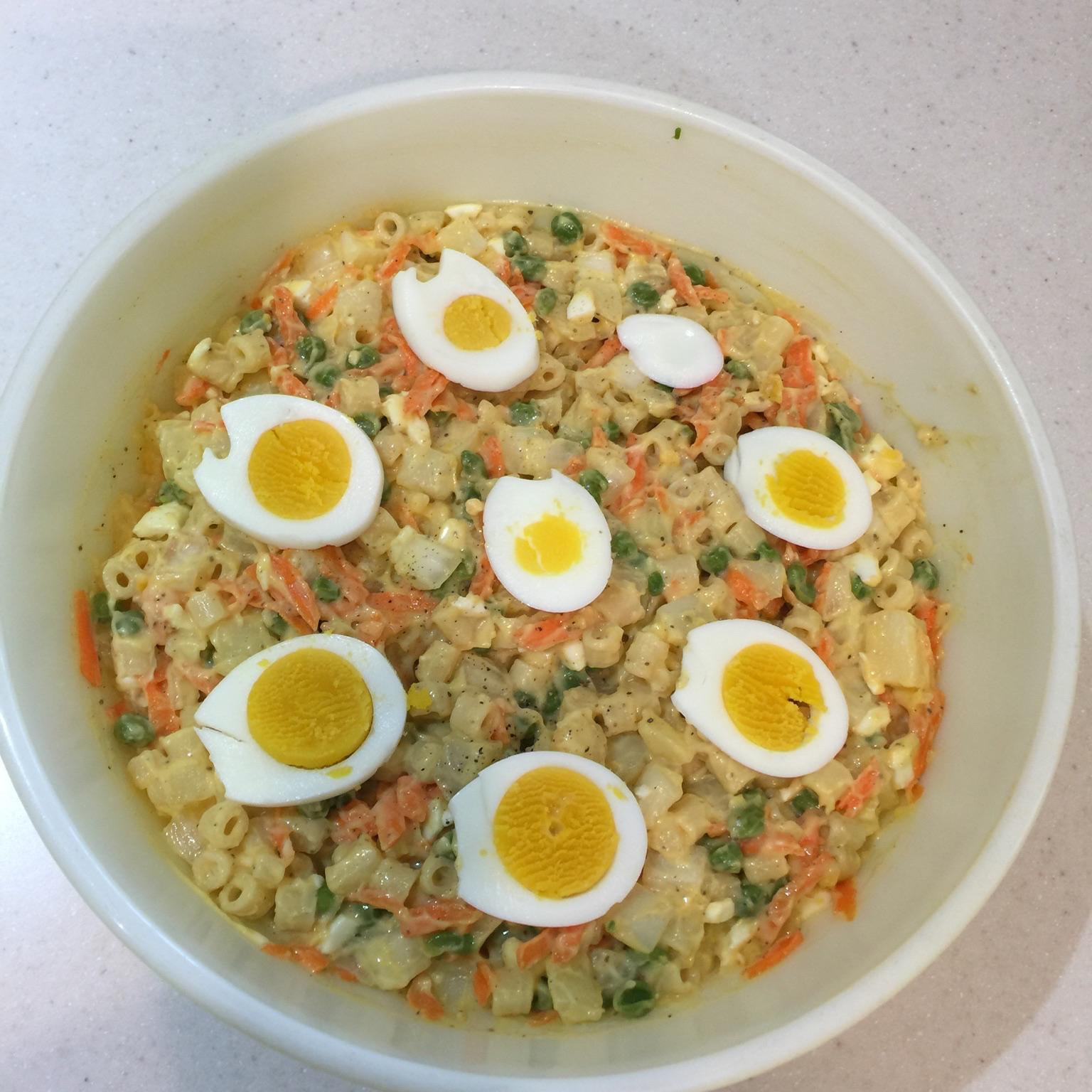 Hawaiian Bruddah Potato Mac (Macaroni) Salad Chez Don