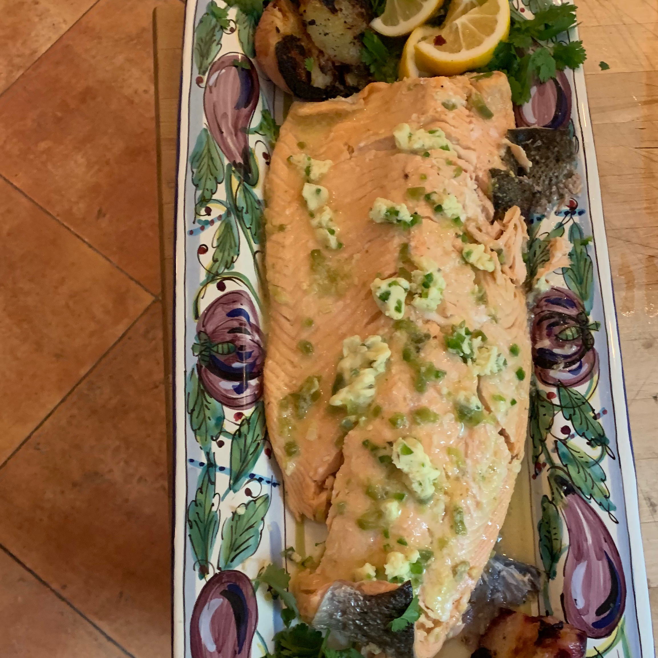 Grilled Salmon with Habanero-Lime Butter Jen R.