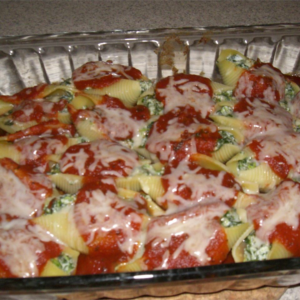 Spinach and Cheese Stuffed Pasta Shells Samantha Cabla Kinnebrew