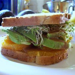 Avocado and Orange Sandwich SunnyByrd