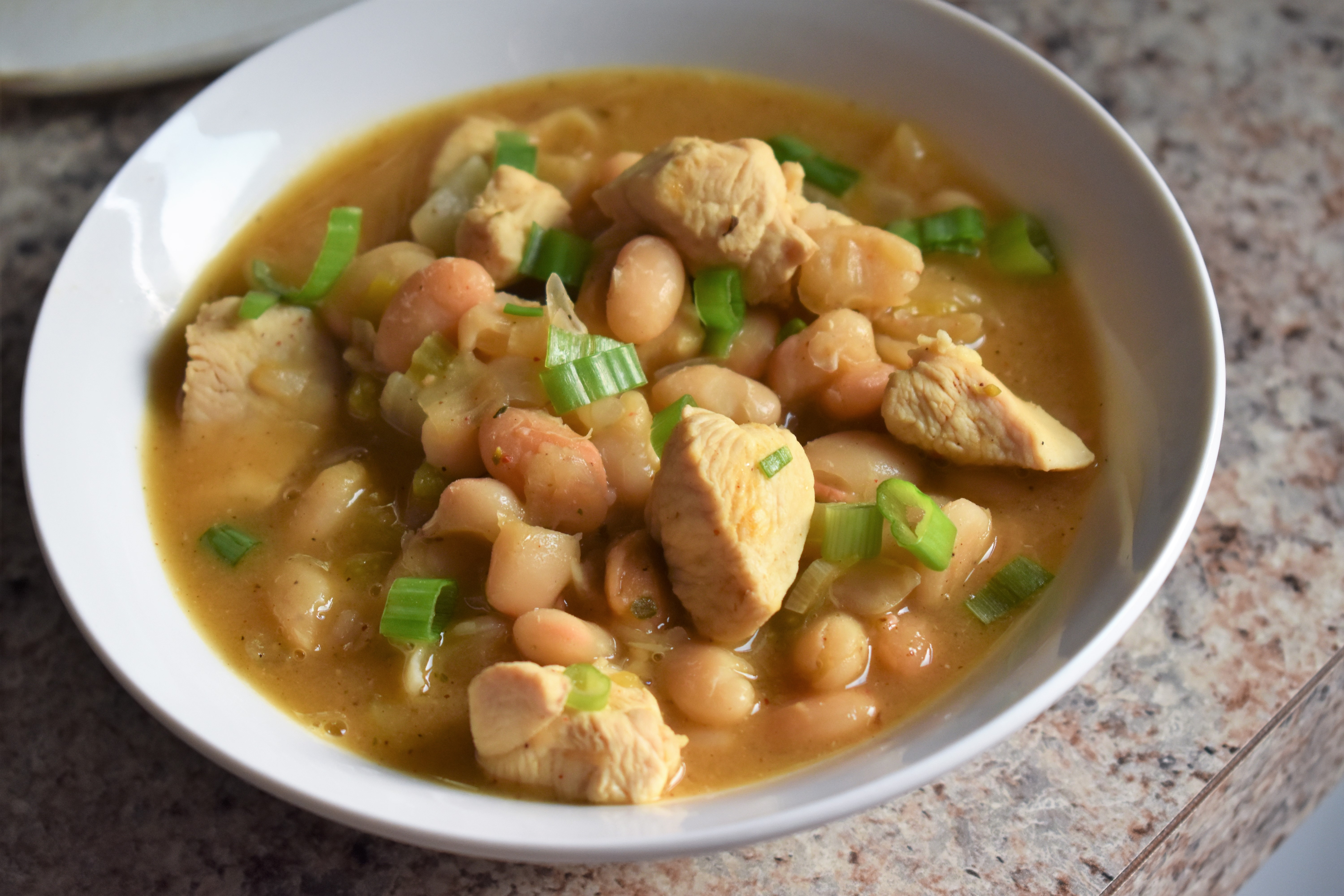 """This chicken chili has few ingredients with lots of flavor,"" says Abbie Jensen Whitton. ""If you are looking for something quick and healthy, this is the recipe to use. This is wonderful over white or brown rice."""