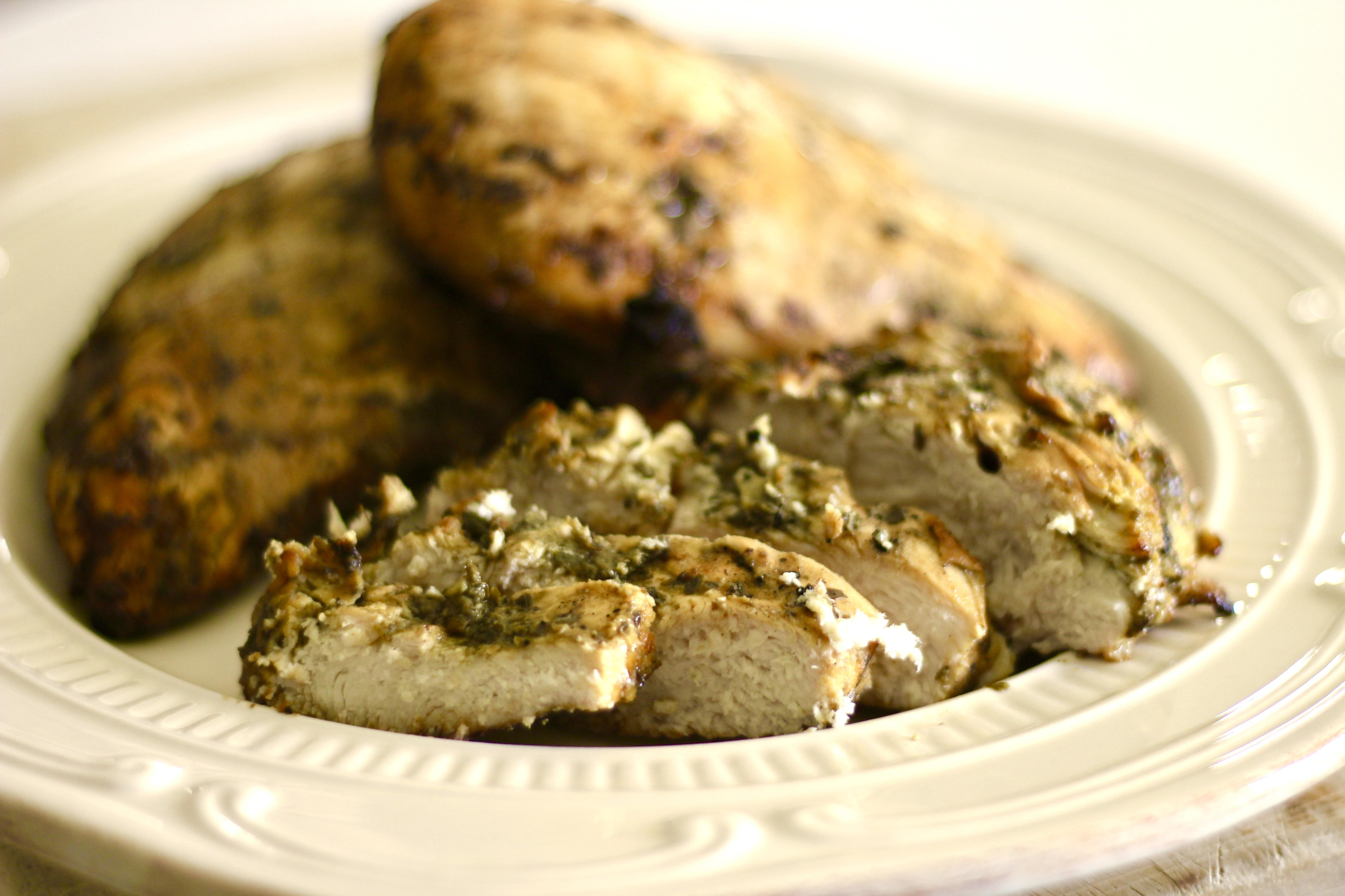 Grilled Pesto-Marinated Chicken SunnyDaysNora