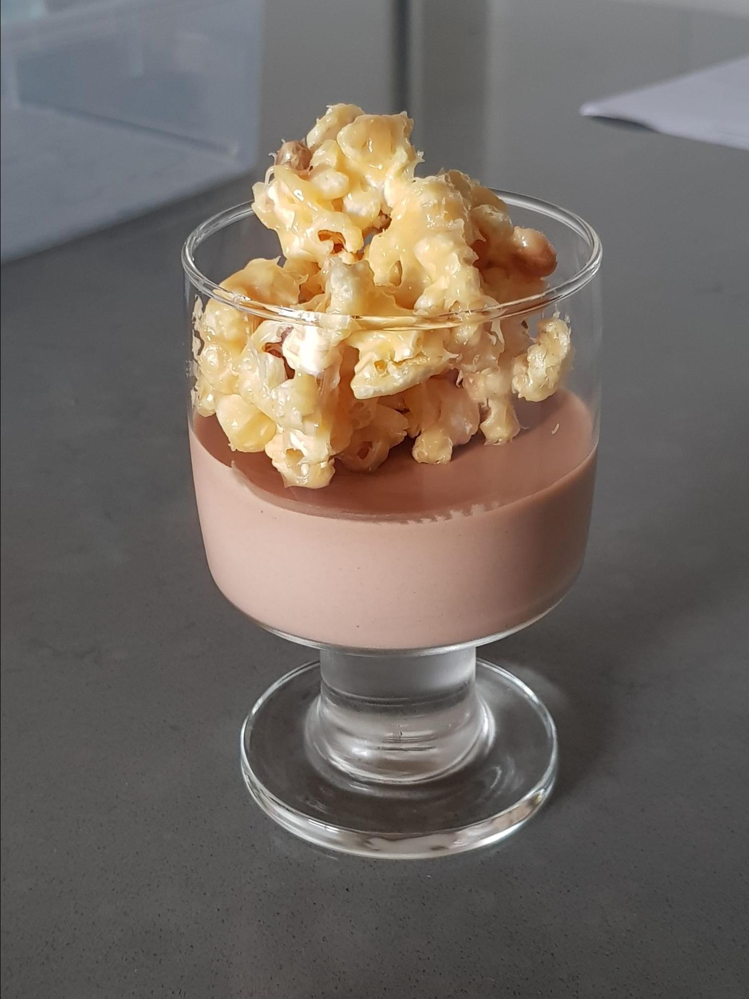 Chocolate Mousse with Salted Caramel Popcorn TheCook31082002