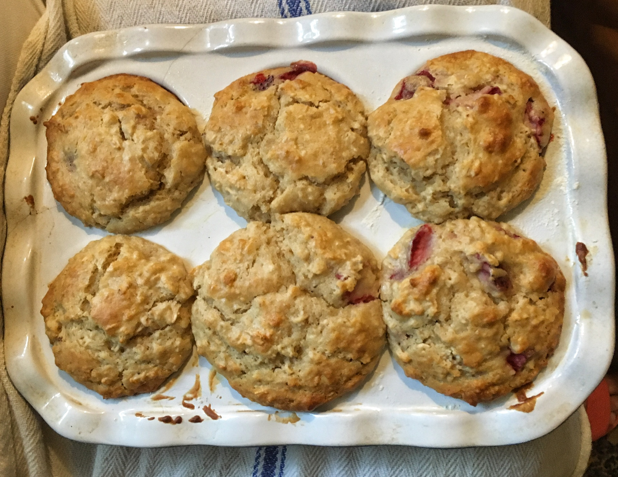 Strawberry Oat Muffins