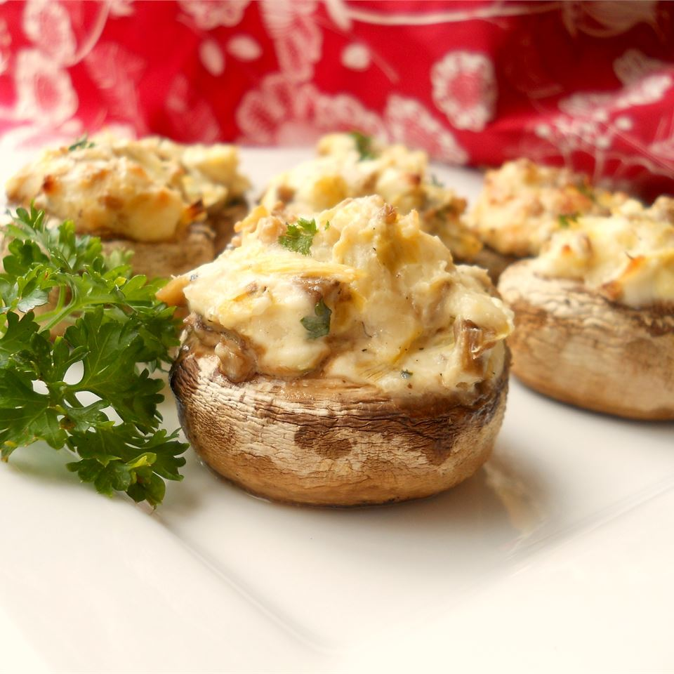 Artichoke Stuffed Mushrooms CookinBug