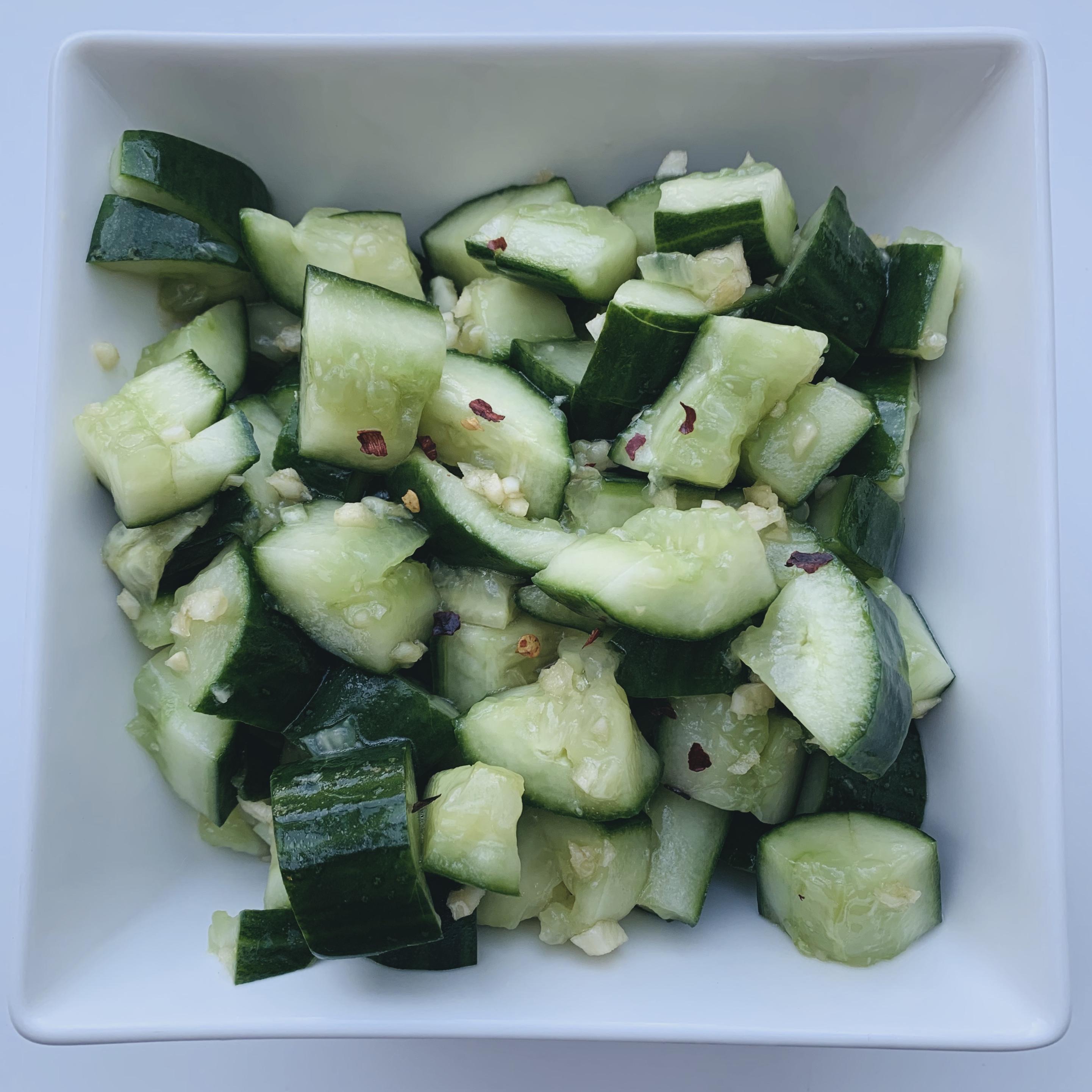 Smashed Cucumber Salad MLG Mom