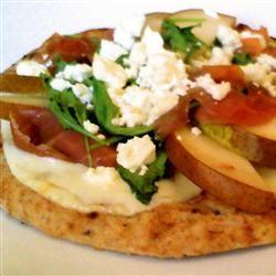 Pear and Gorgonzola Cheese Pizza Chipplec