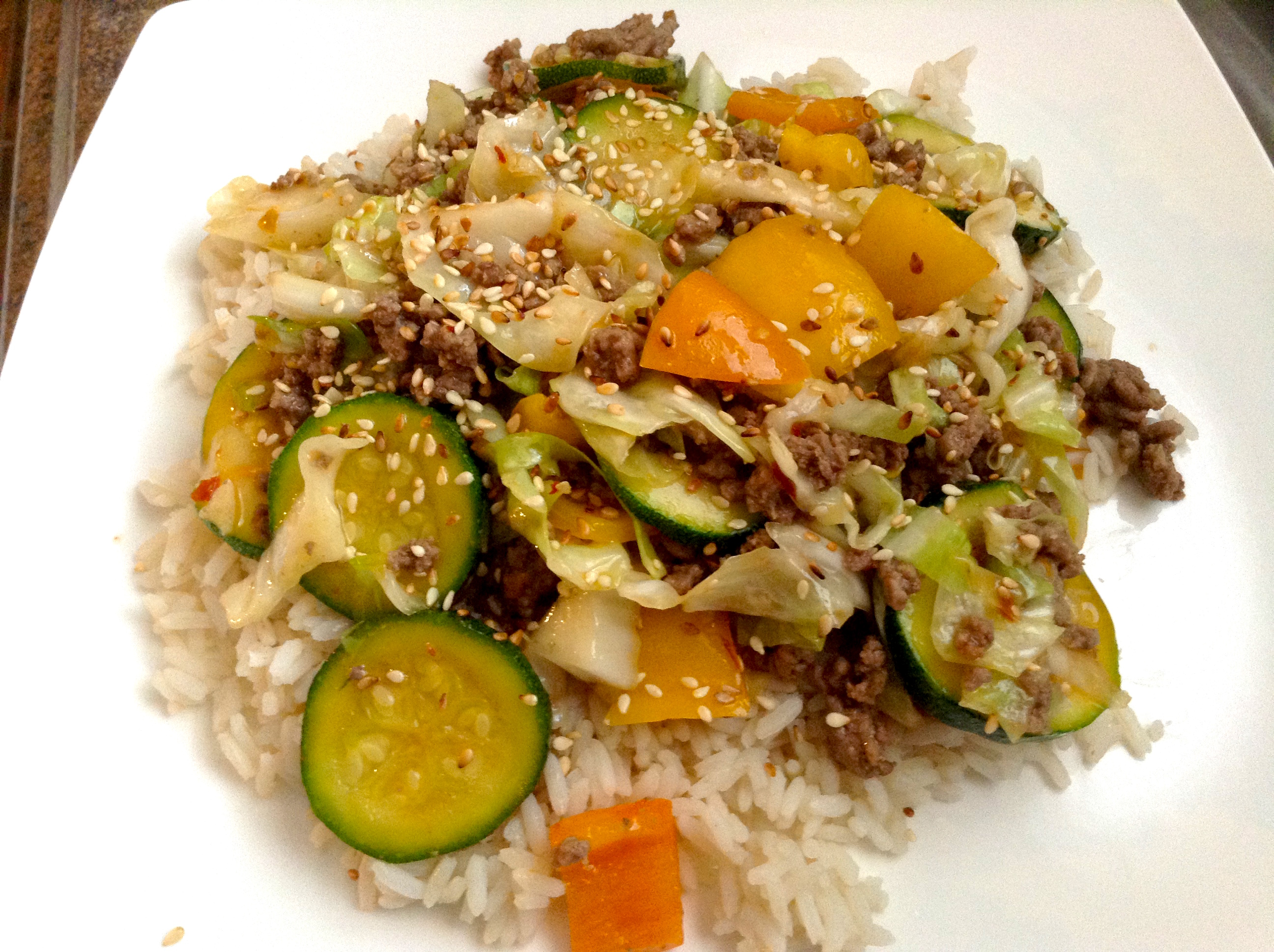 Black Pepper Beef and Cabbage Stir Fry Heather