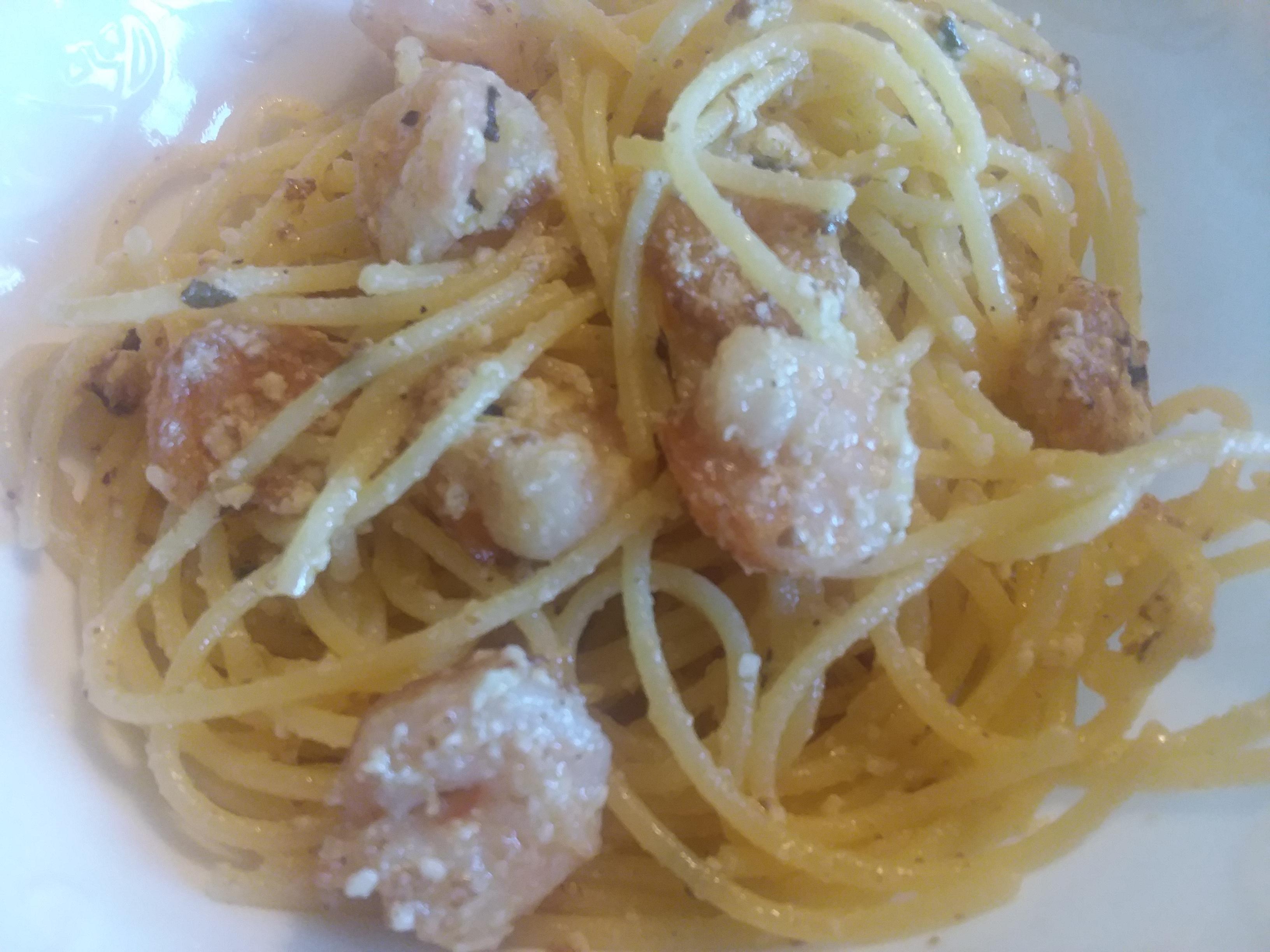 Last-Minute Lemon Spaghetti and Shrimp Bobbi Bellon Blanchard