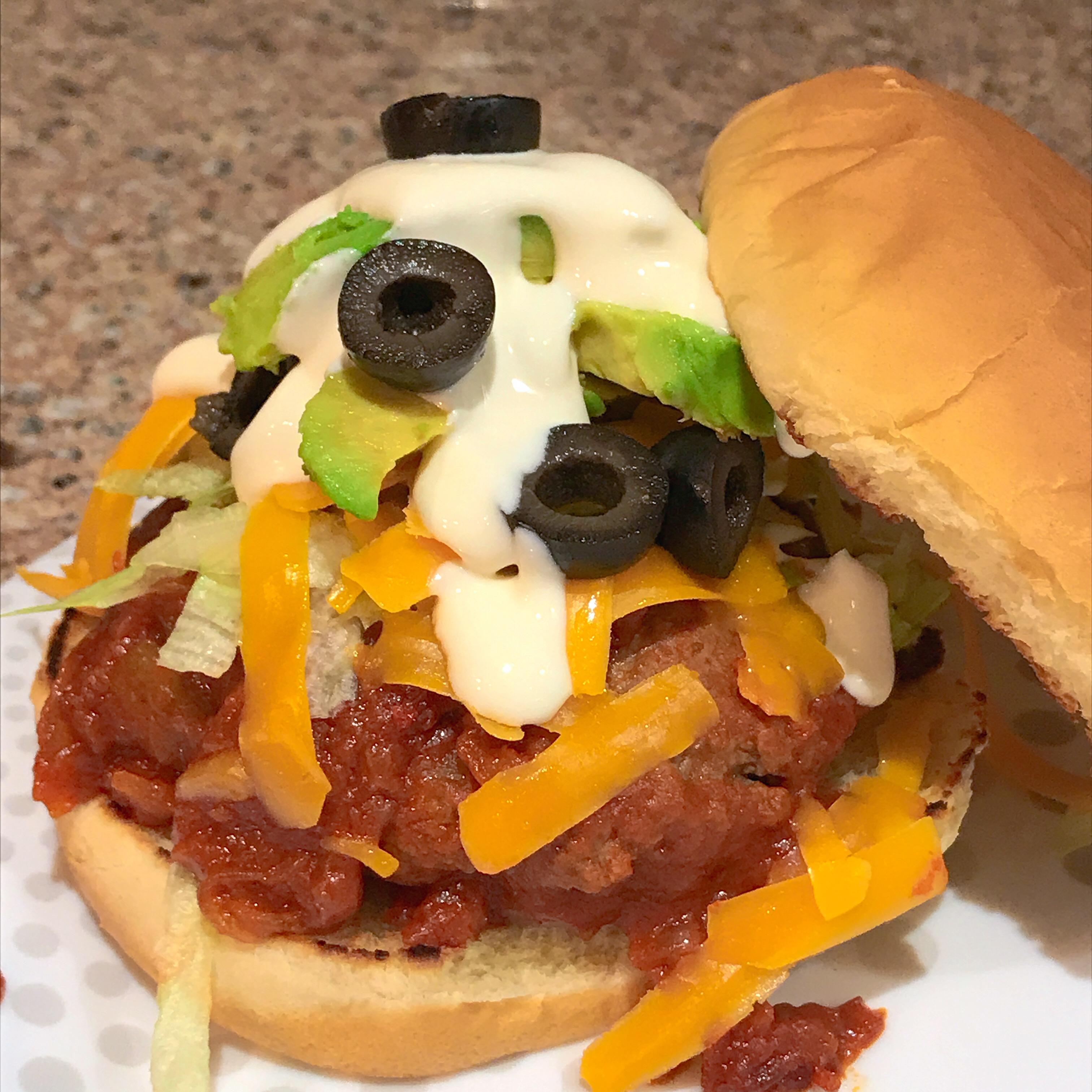 Sarah's Stewed Taco Burgers