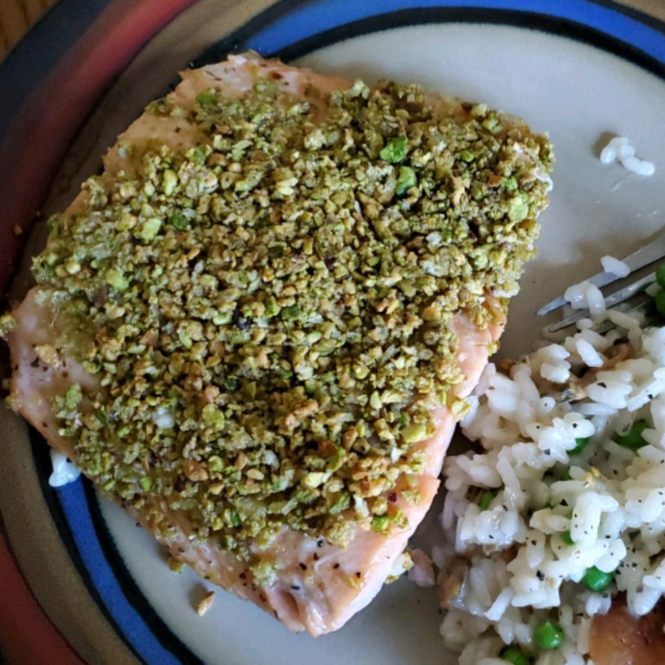 Pistachio-Crusted Salmon Kimberly Curtis Mallory