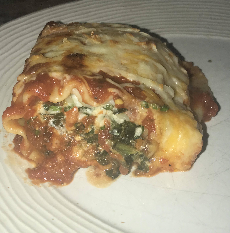 Spinach Lasagna Roll Ups Sand dollar