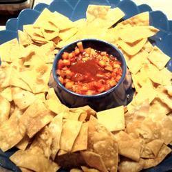 Annie's Fruit Salsa and Cinnamon Chips Kaiyetanis