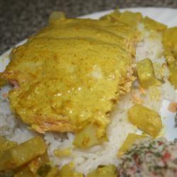 Curried Salmon Bake noahsmum