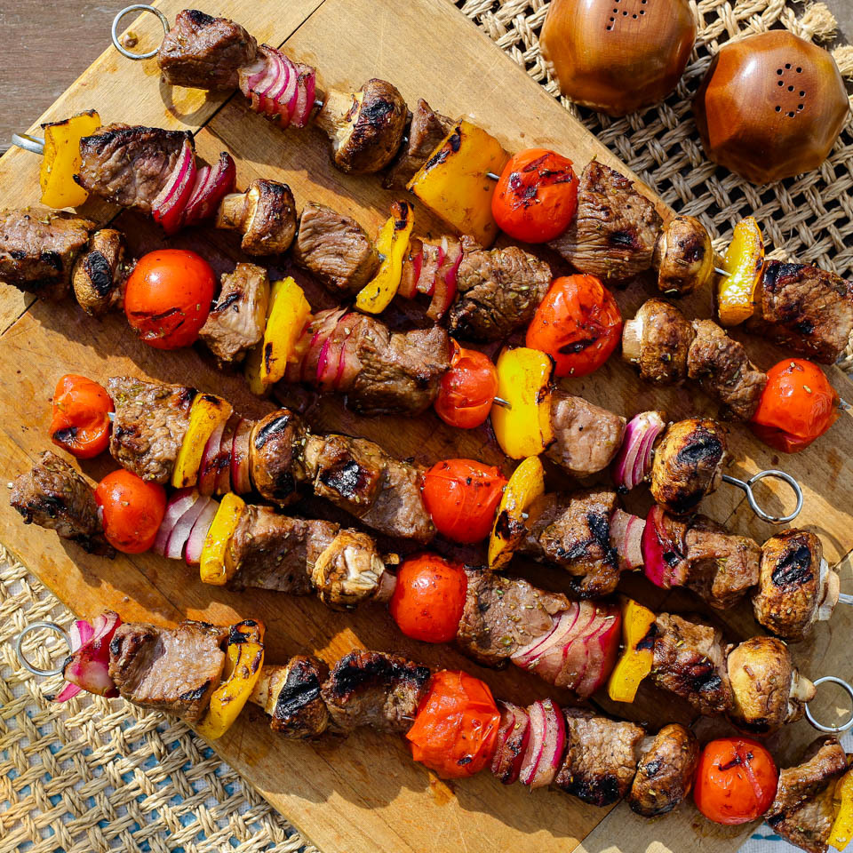 Grilled Beef & Vegetable Kebabs Carolyn Casner