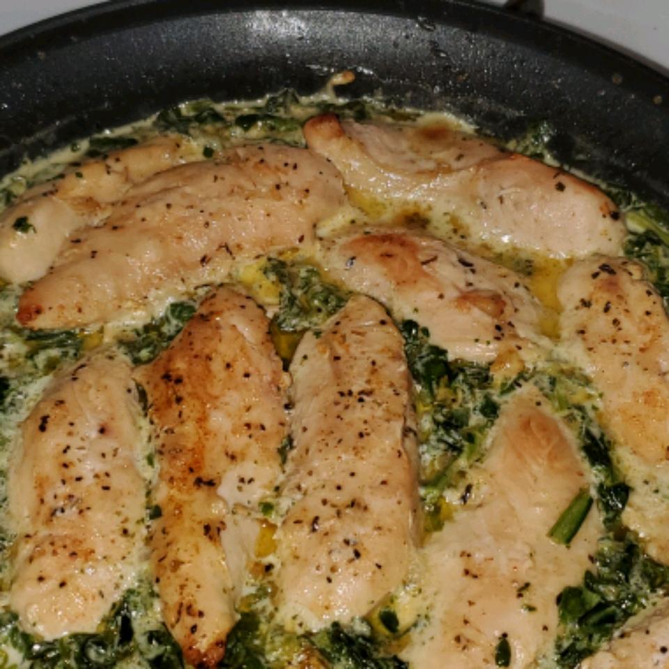 Creamy Chicken with Spinach Anne Sanders