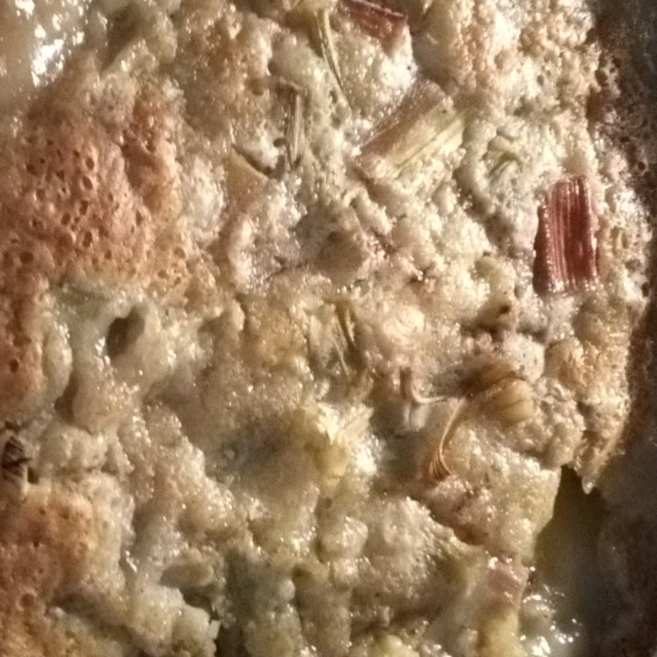 Rhubarb Buttermilk Pudding