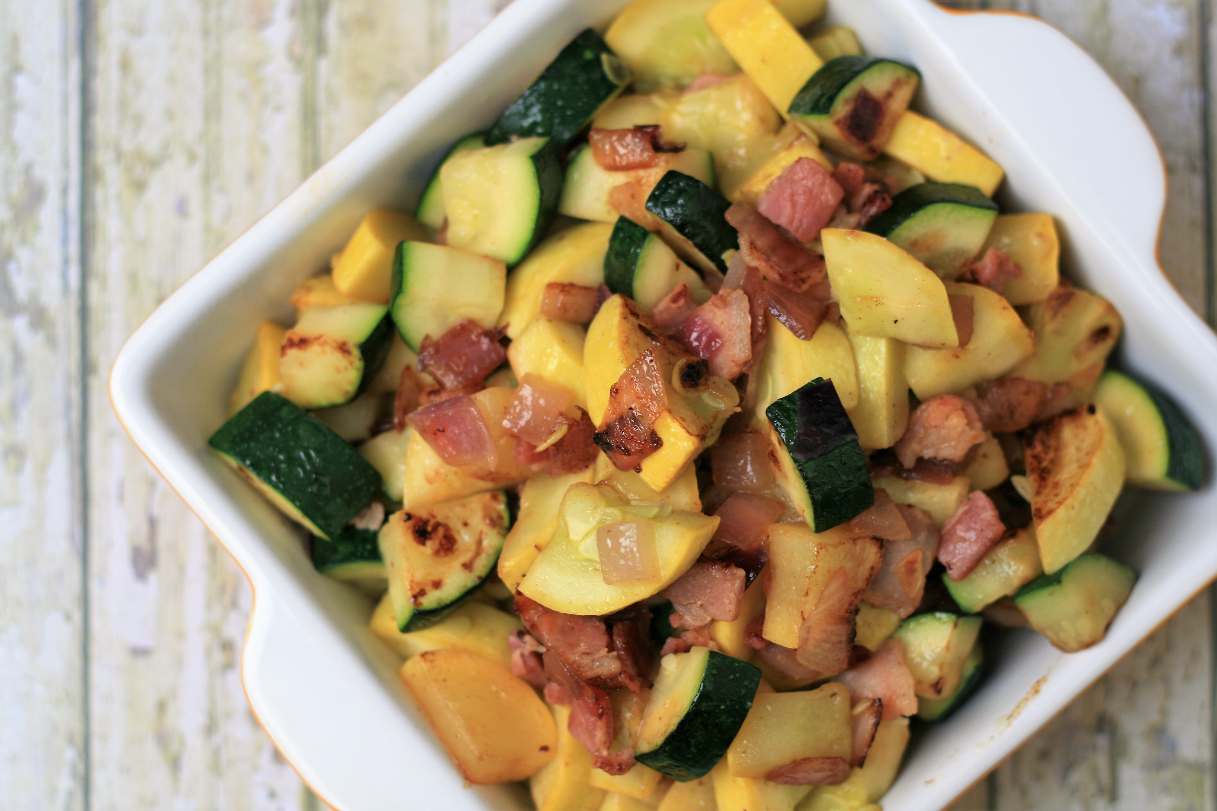 Summer Squash Saute with Bacon image