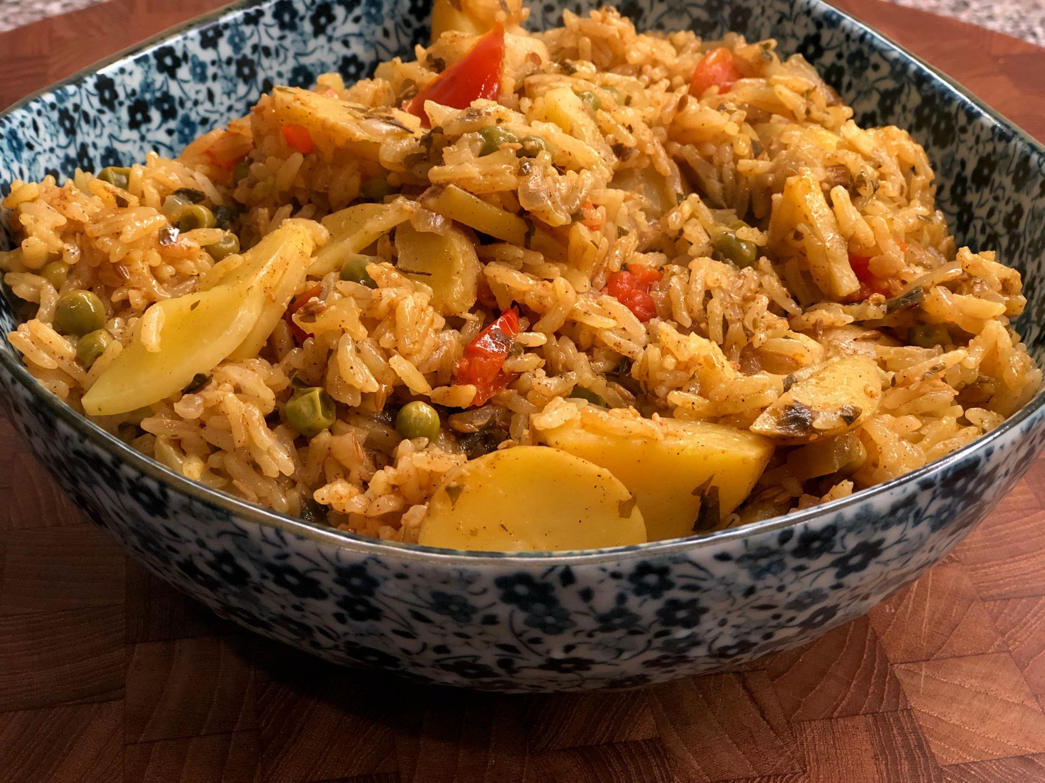 Instant Pot® Pudina Pulao (Mint Rice)