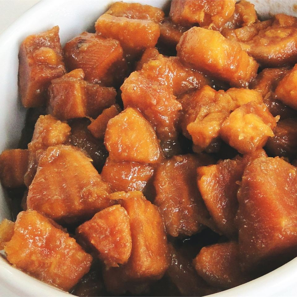 Brandied Candied Sweet Potatoes with Brown Sugar Kathy Bennett