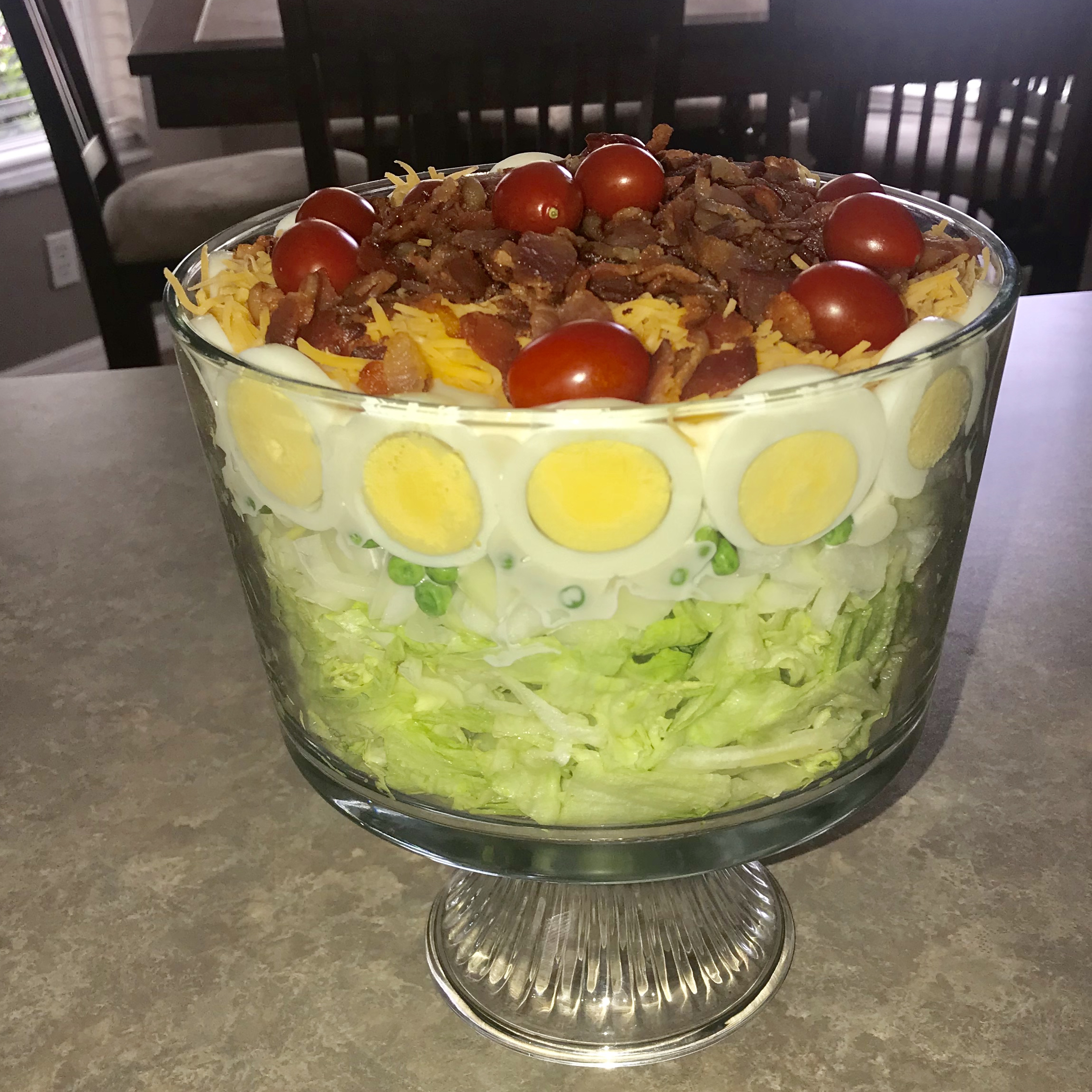 Easy Seven Layer Vegetable Salad Barb Cross