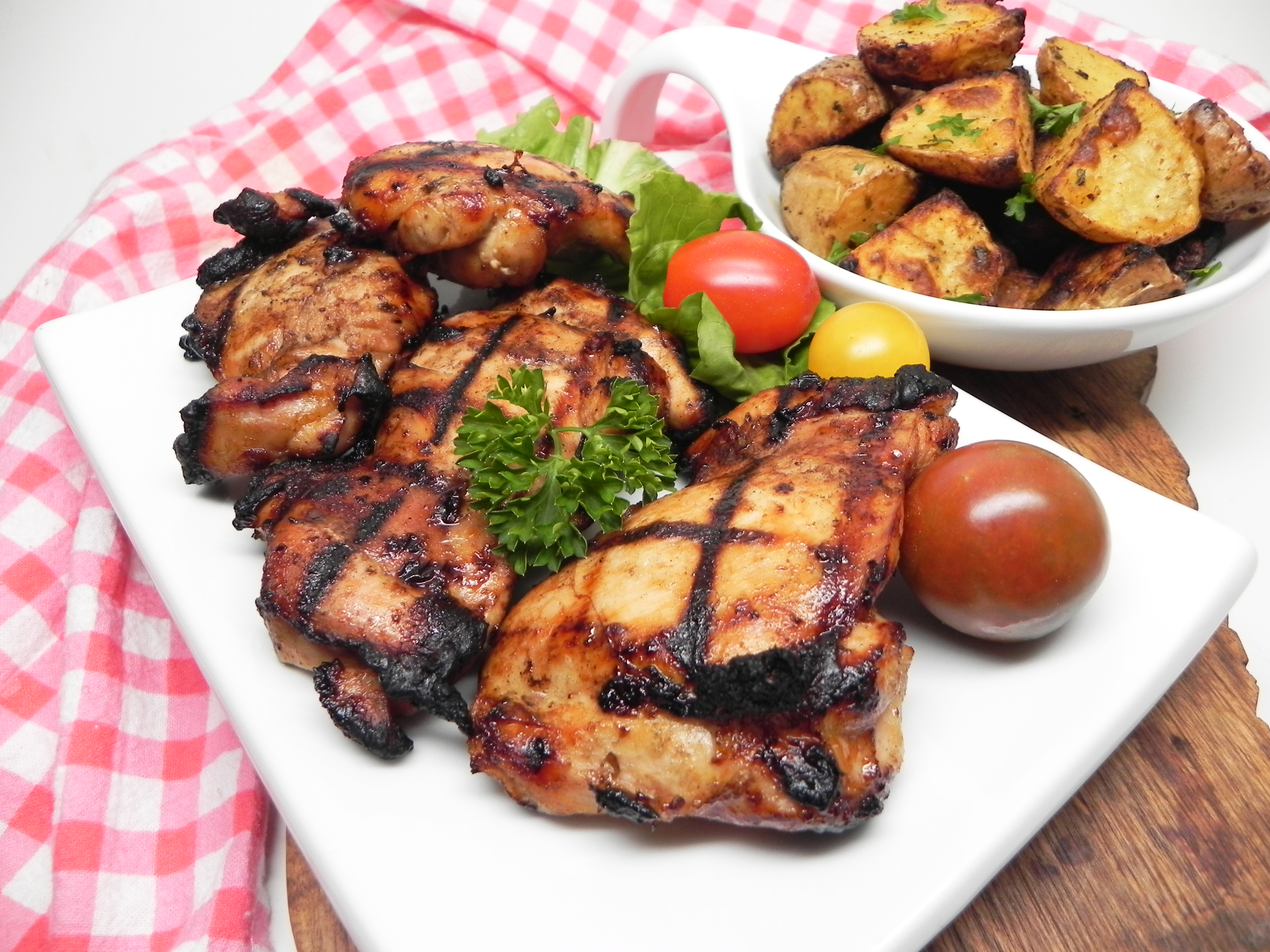Balsamic Grilled Chicken Thighs