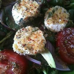 Spinach Salad with Baked Goat Cheese ZenCity