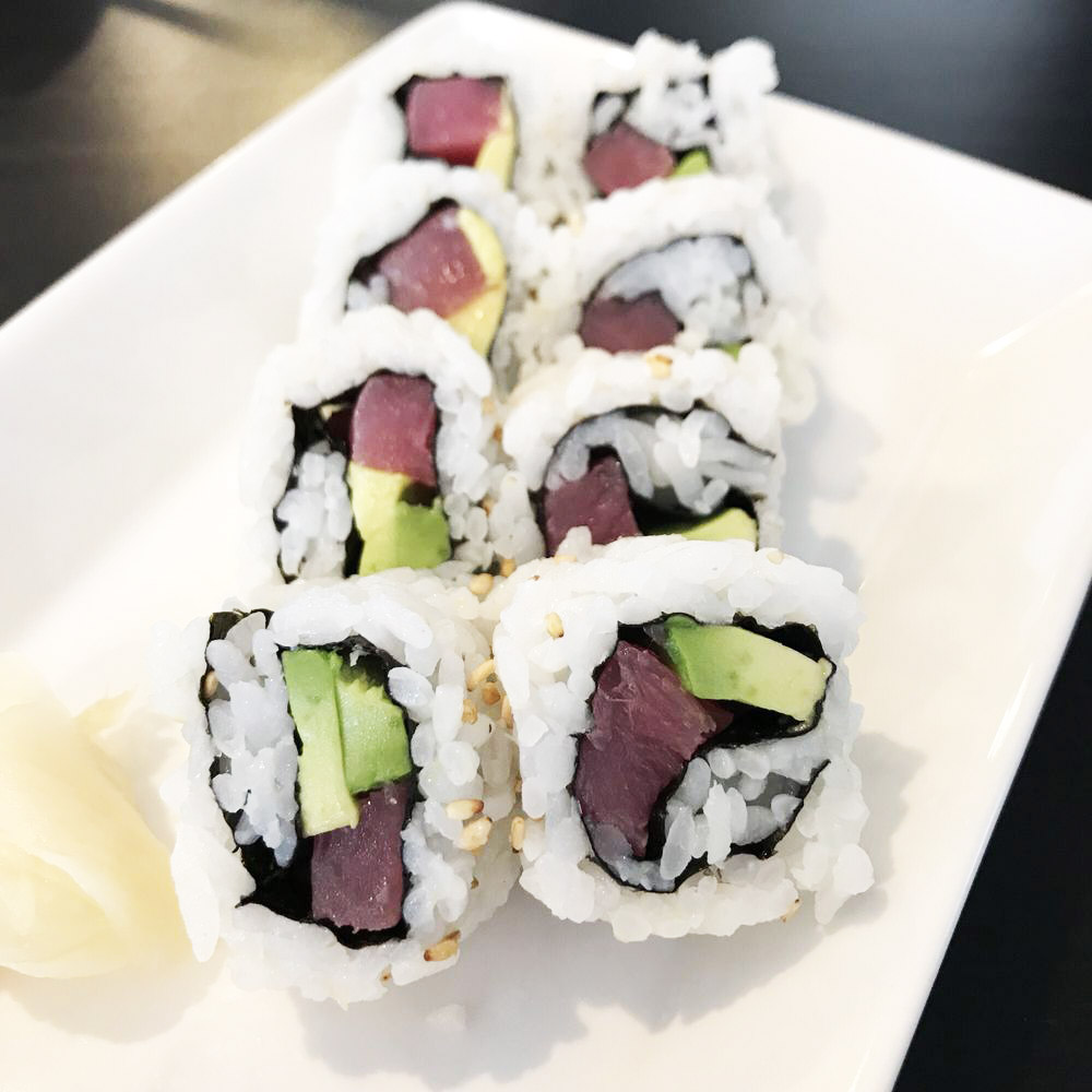 Inside-Out Spicy Tuna and Avocado Sushi