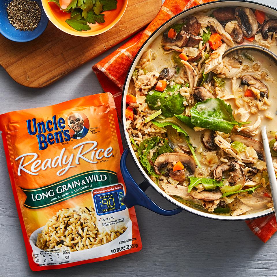 Creamy Chicken & Rice Soup Uncle Ben's