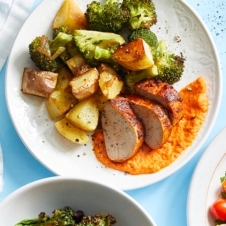 Paprika Baked Pork Tenderloin with Potatoes & Broccoli Sara Haas, R.D.N., L.D.N.